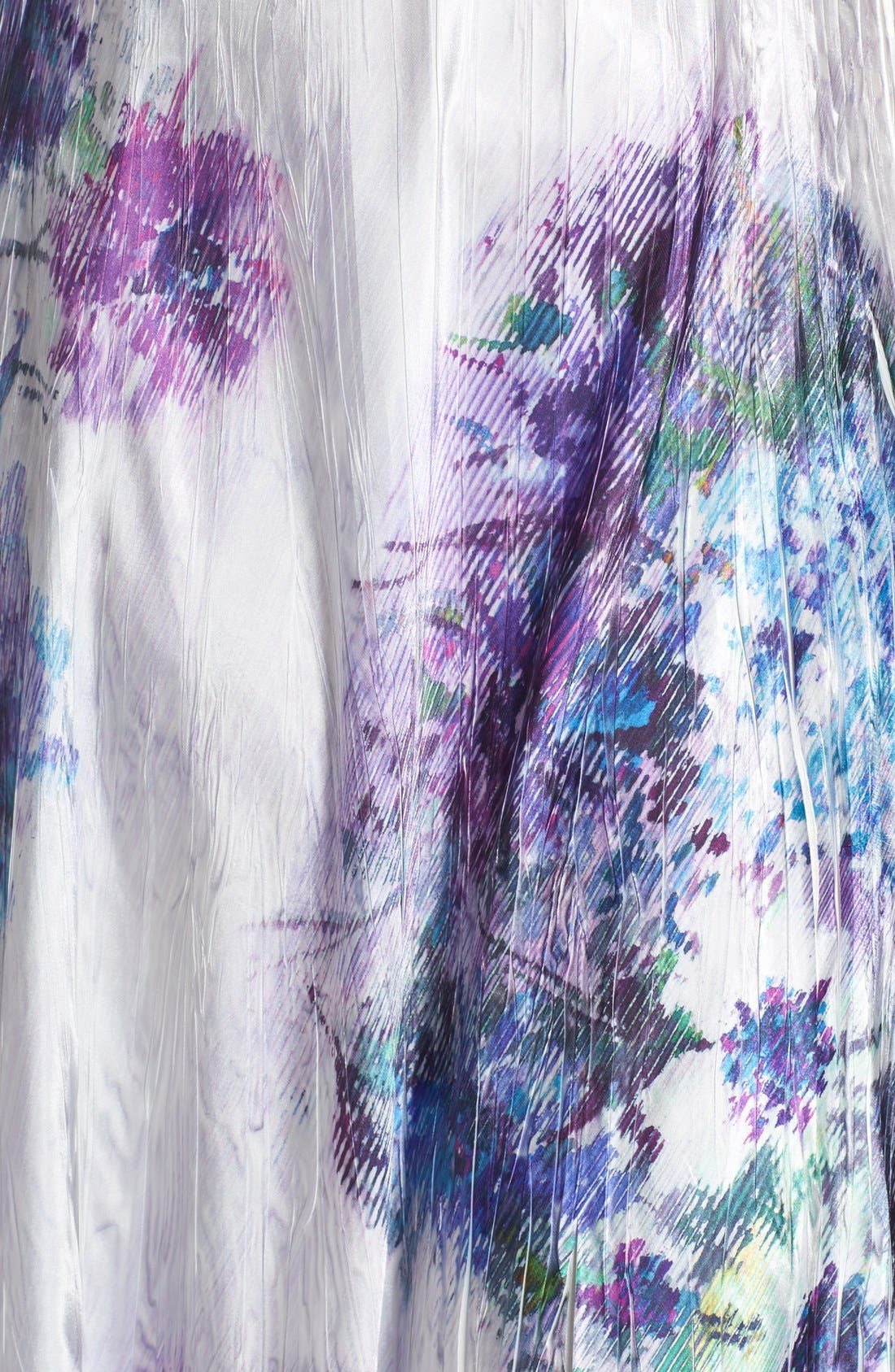 Alternate Image 5  - Komarov Print Charmeuse & Chiffon A-Line Long Dress (Plus Size)