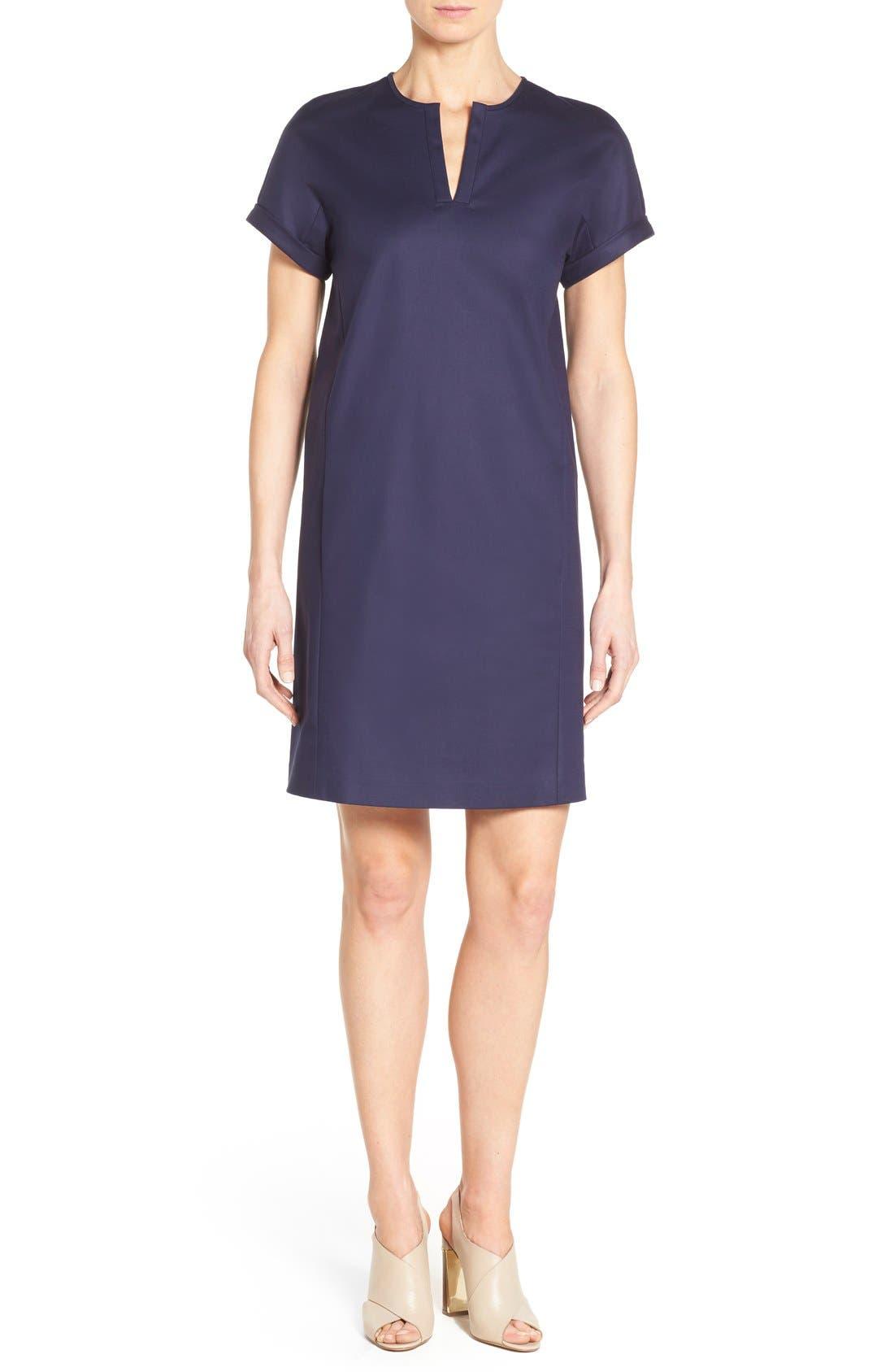 Alternate Image 1 Selected - Nordstrom Collection Stretch Poplin Shift Dress