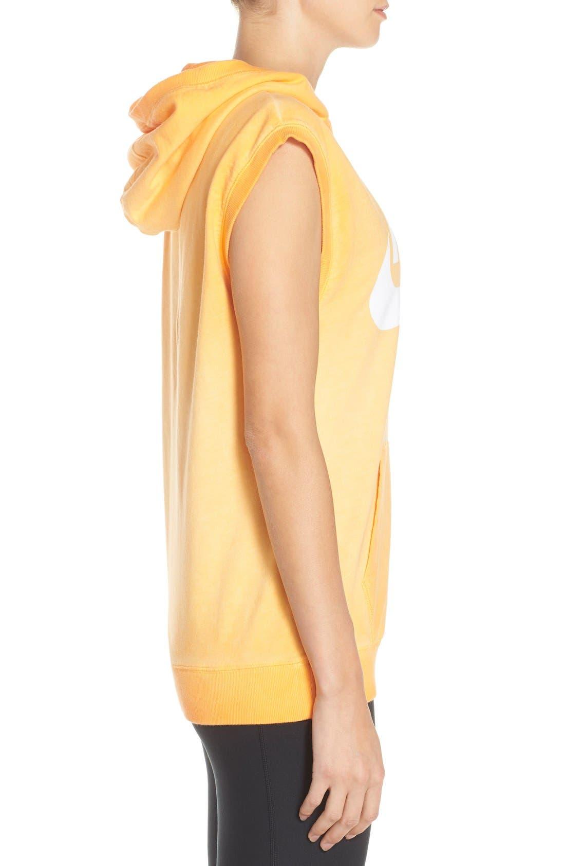 Alternate Image 3  - Nike Logo Sleeveless Cotton Hoodie