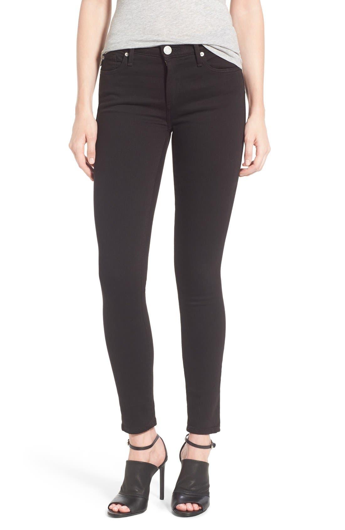 'Halle' Skinny Jeans,                         Main,                         color, Jet Black