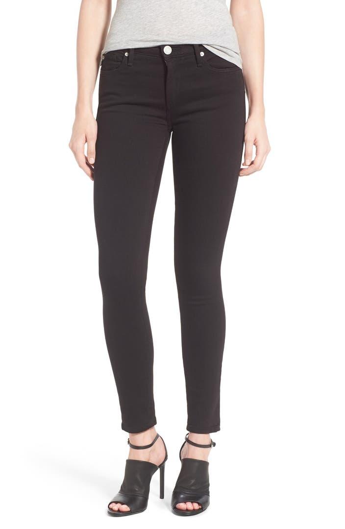 true religion brand jeans 39 halle 39 skinny jeans jet black. Black Bedroom Furniture Sets. Home Design Ideas