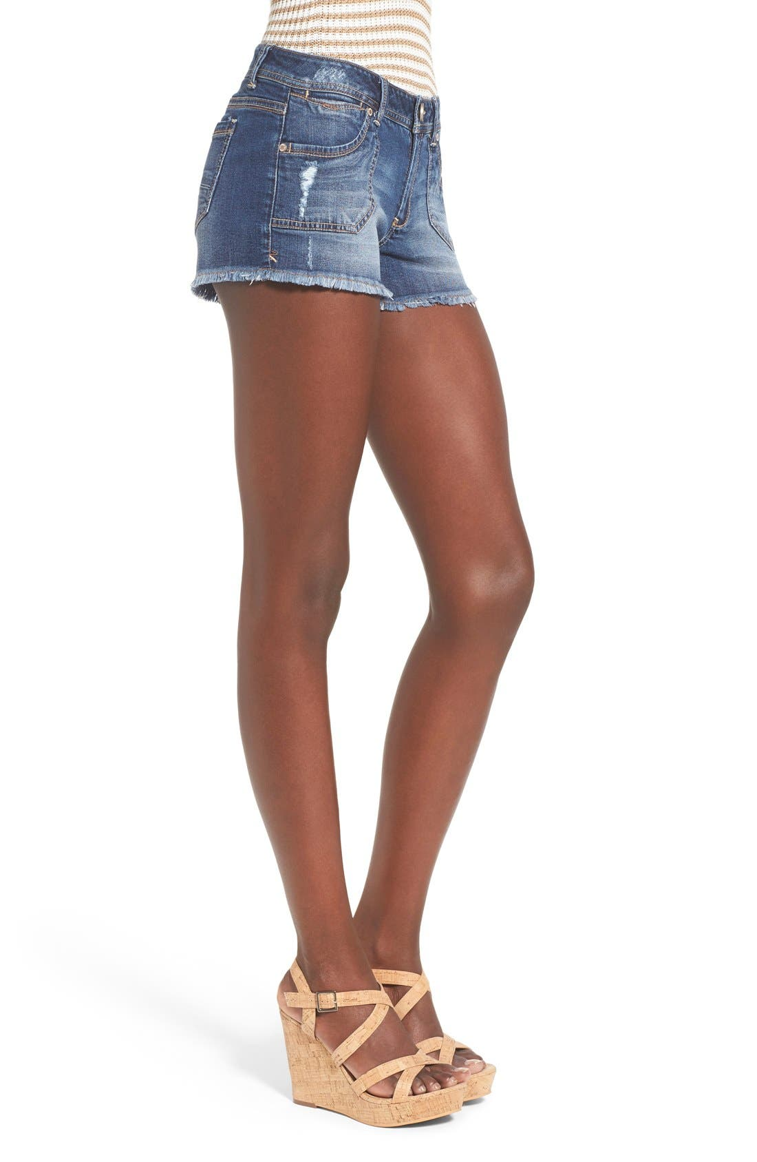 Alternate Image 3  - 1822 Denim Porkchop Pocket Denim Shorts