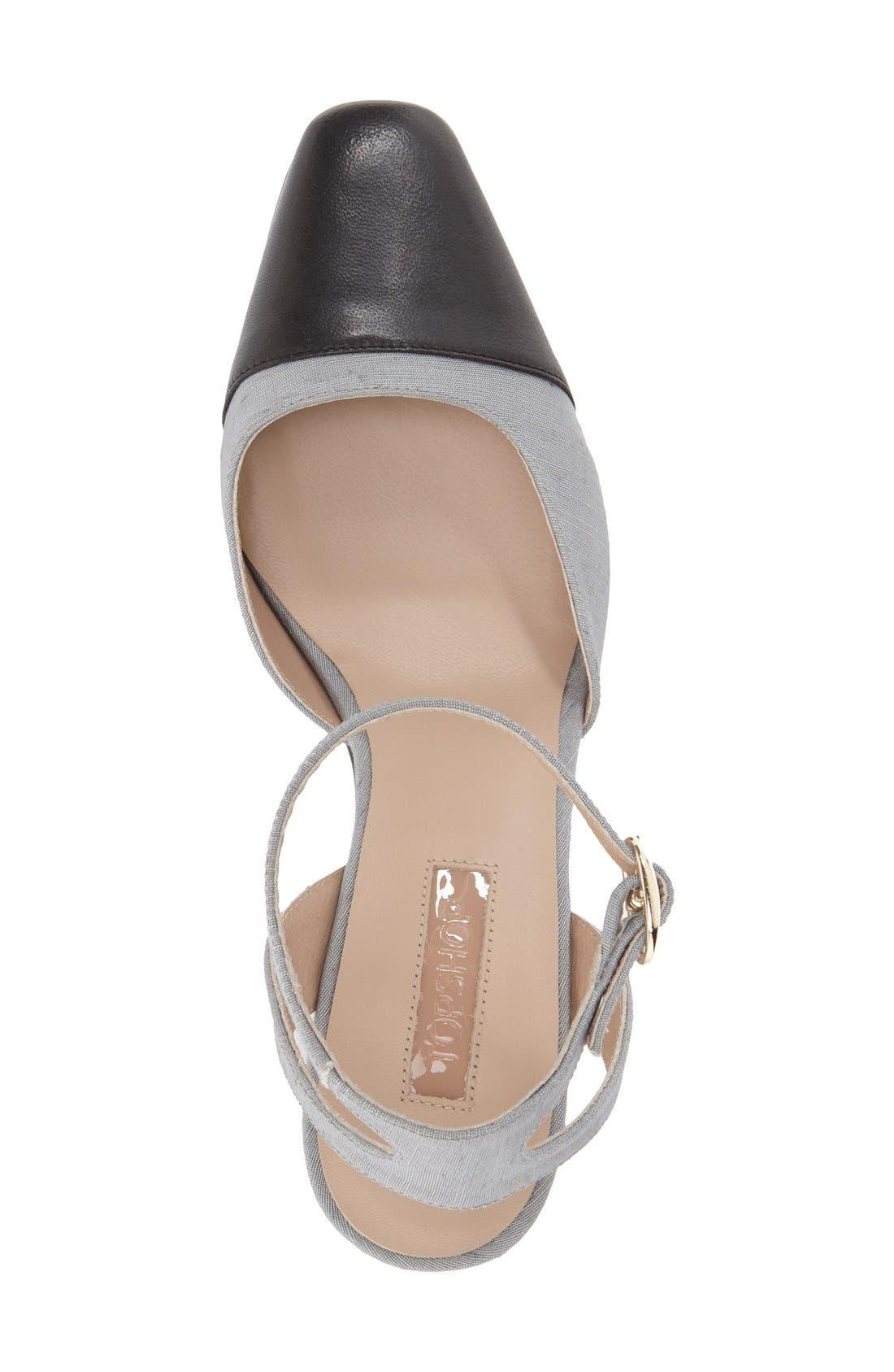 Alternate Image 3  - Topshop 'Jewel' Cap Toe Block Heel Pump (Women)