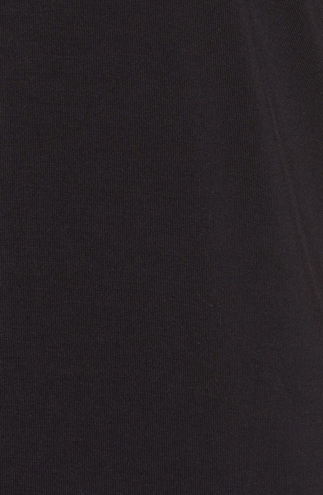 'Moonlight' Short Pajamas,                             Alternate thumbnail 5, color,                             Black