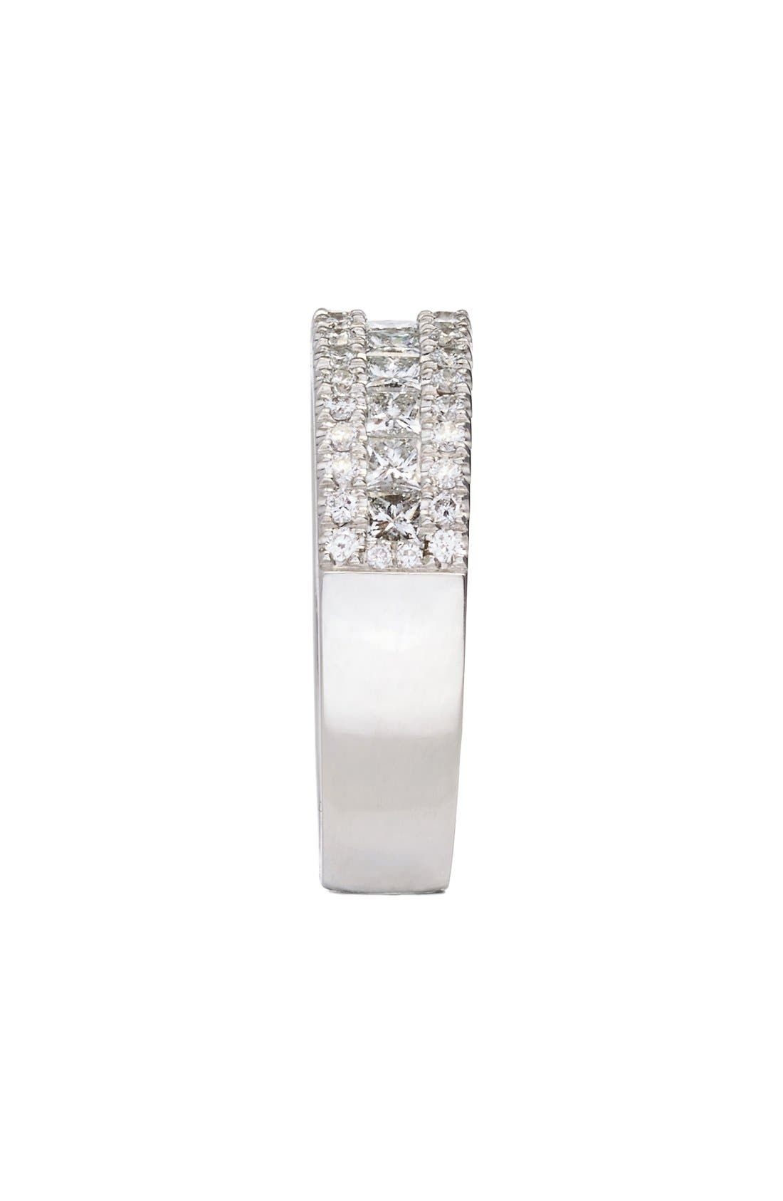 'Liora' Princess Diamond Ring,                             Alternate thumbnail 2, color,                             White Gold