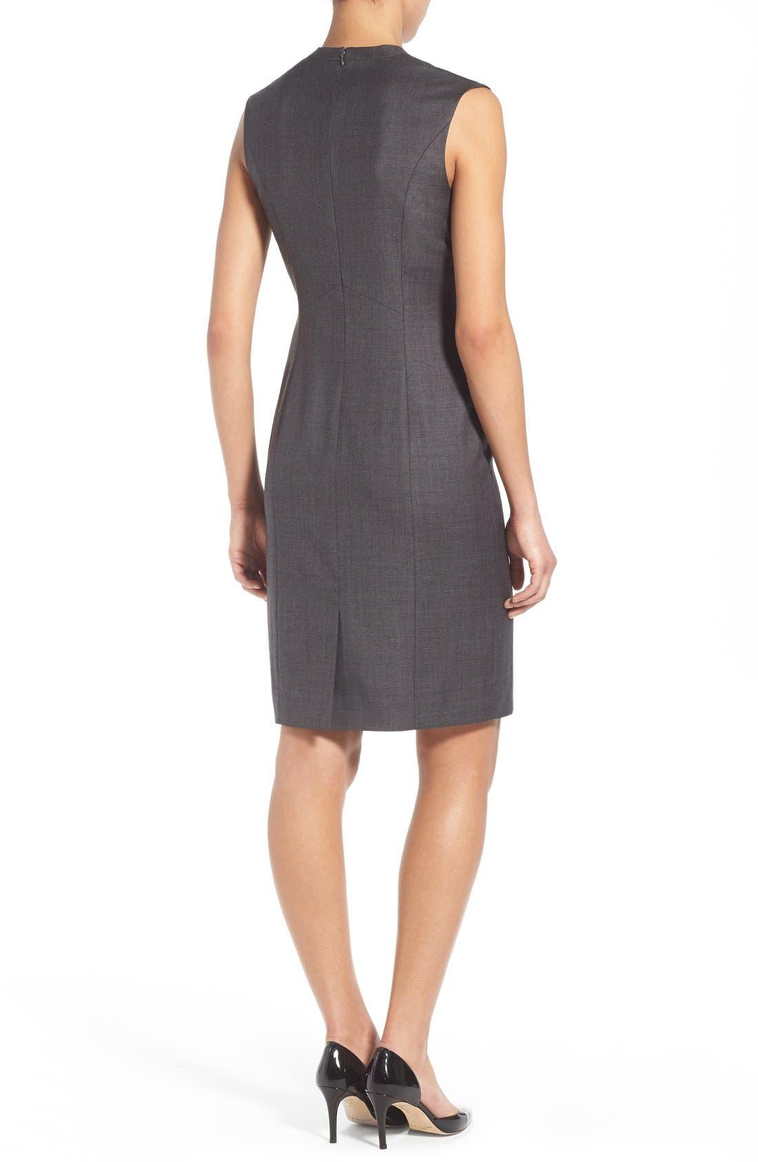 Alternate Image 3  - Classiques Entier® V-Neck Superfine Wool Sheath Dress