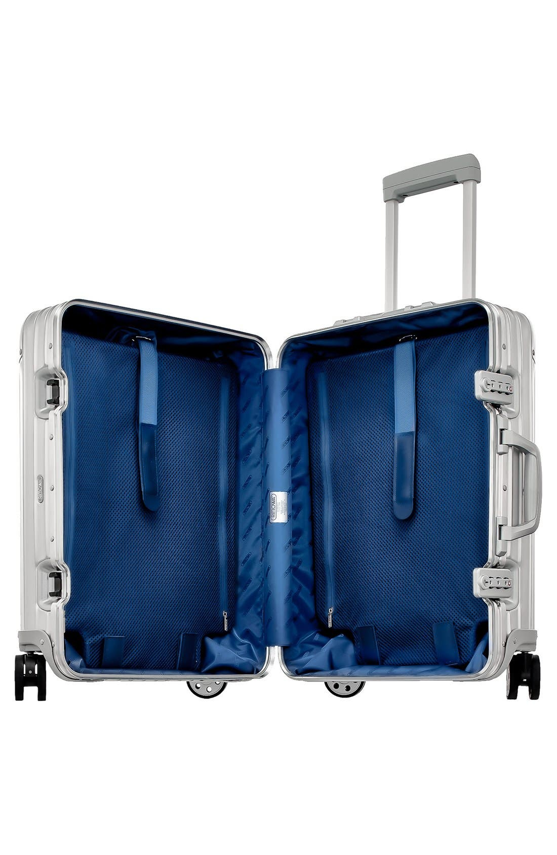 Alternate Image 2  - RIMOWA Topas 22 Inch Cabin Multiwheel® Aluminum Carry-On