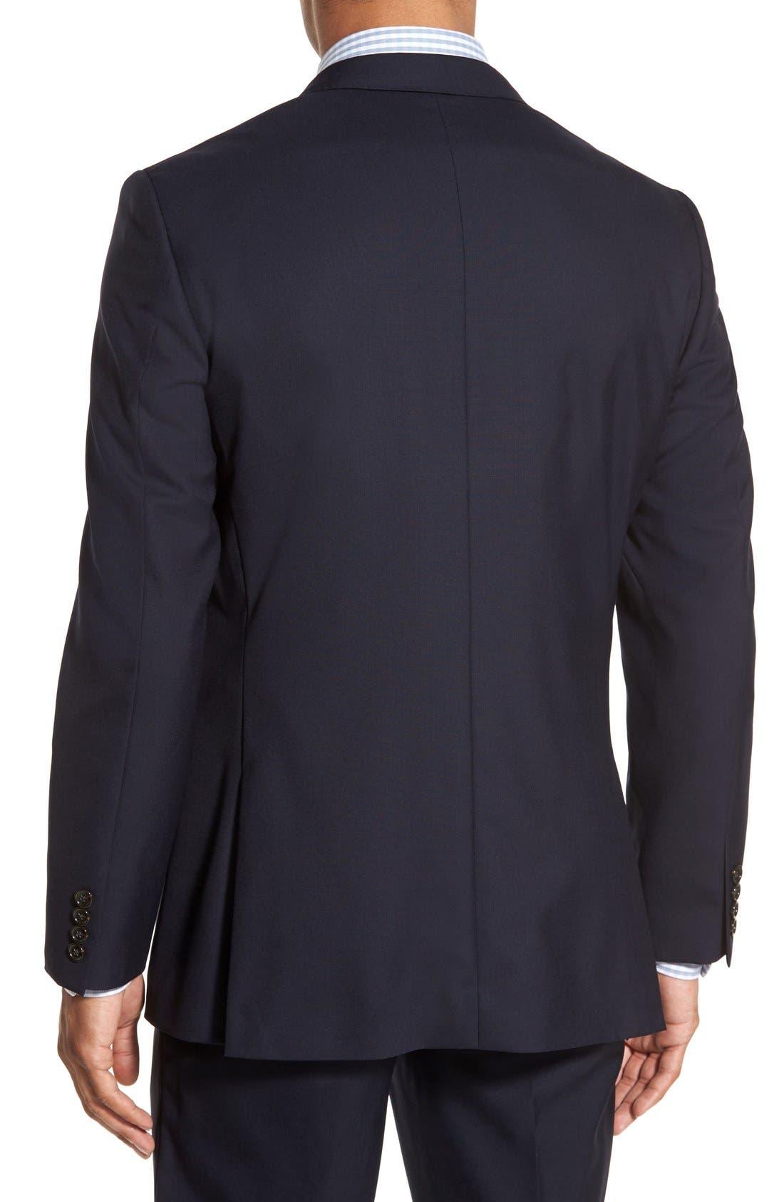 Ludlow Trim Fit Solid Wool Sport Coat,                             Alternate thumbnail 2, color,                             Deep Navy