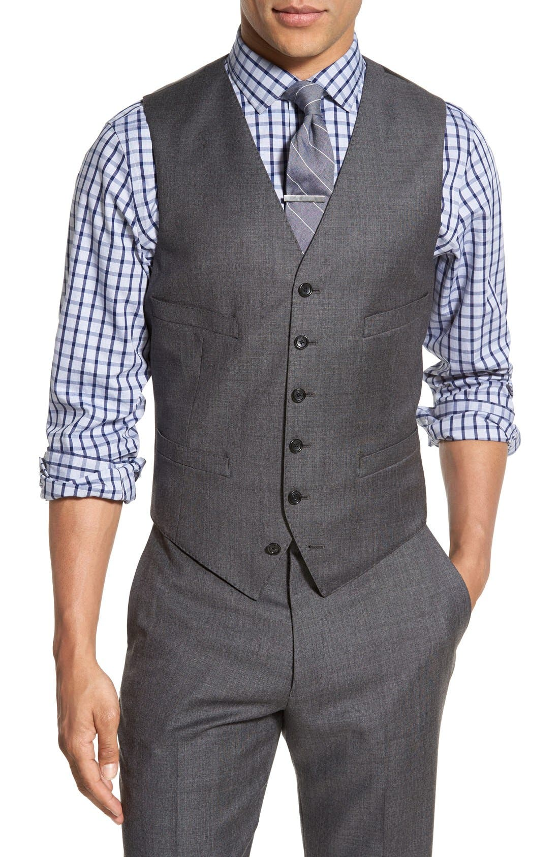 J.Crew Ludlow Trim Fit Solid Wool Vest