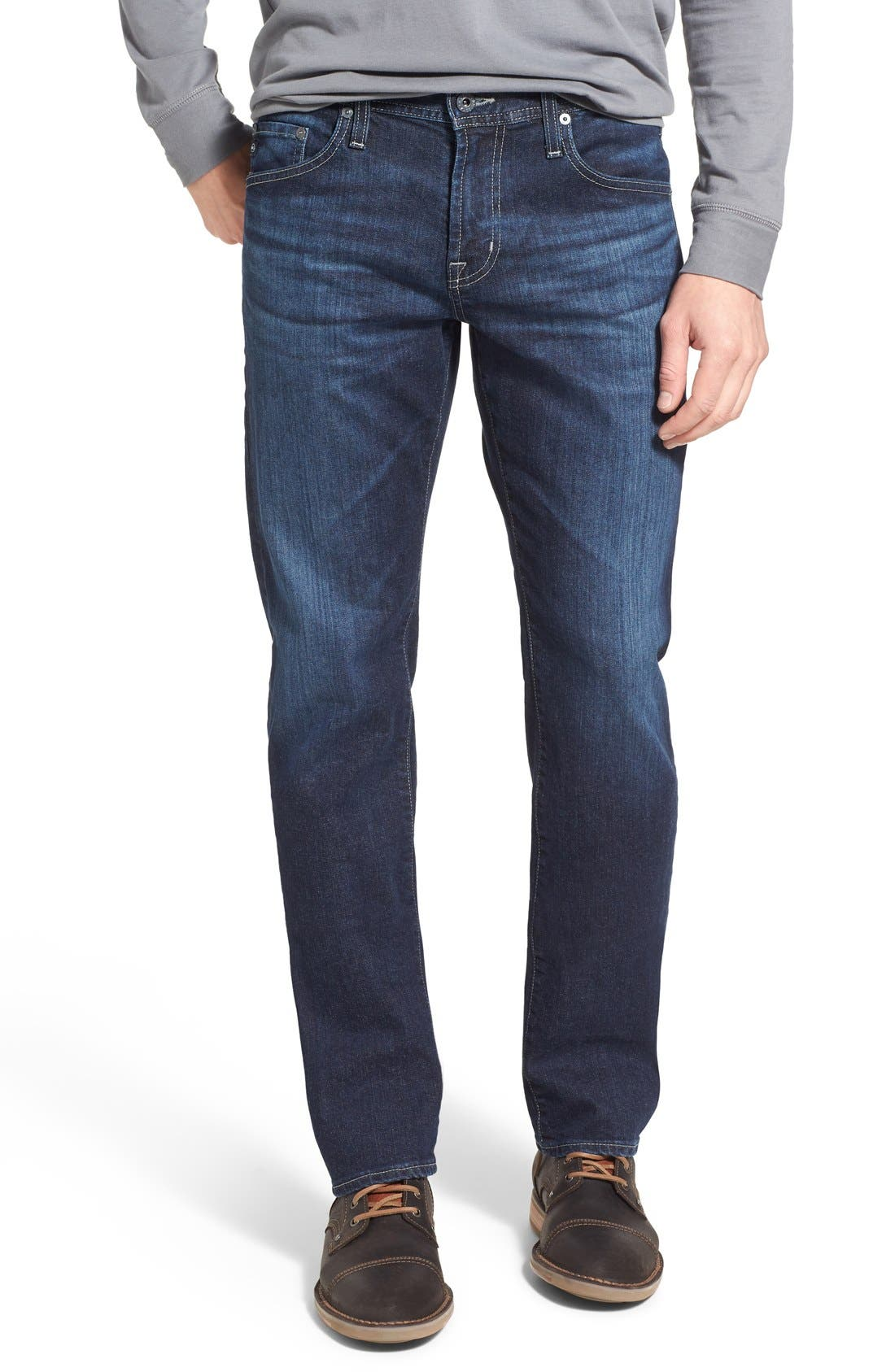 'Protégé' Straight Leg Jeans,                             Main thumbnail 1, color,                             Kingswell