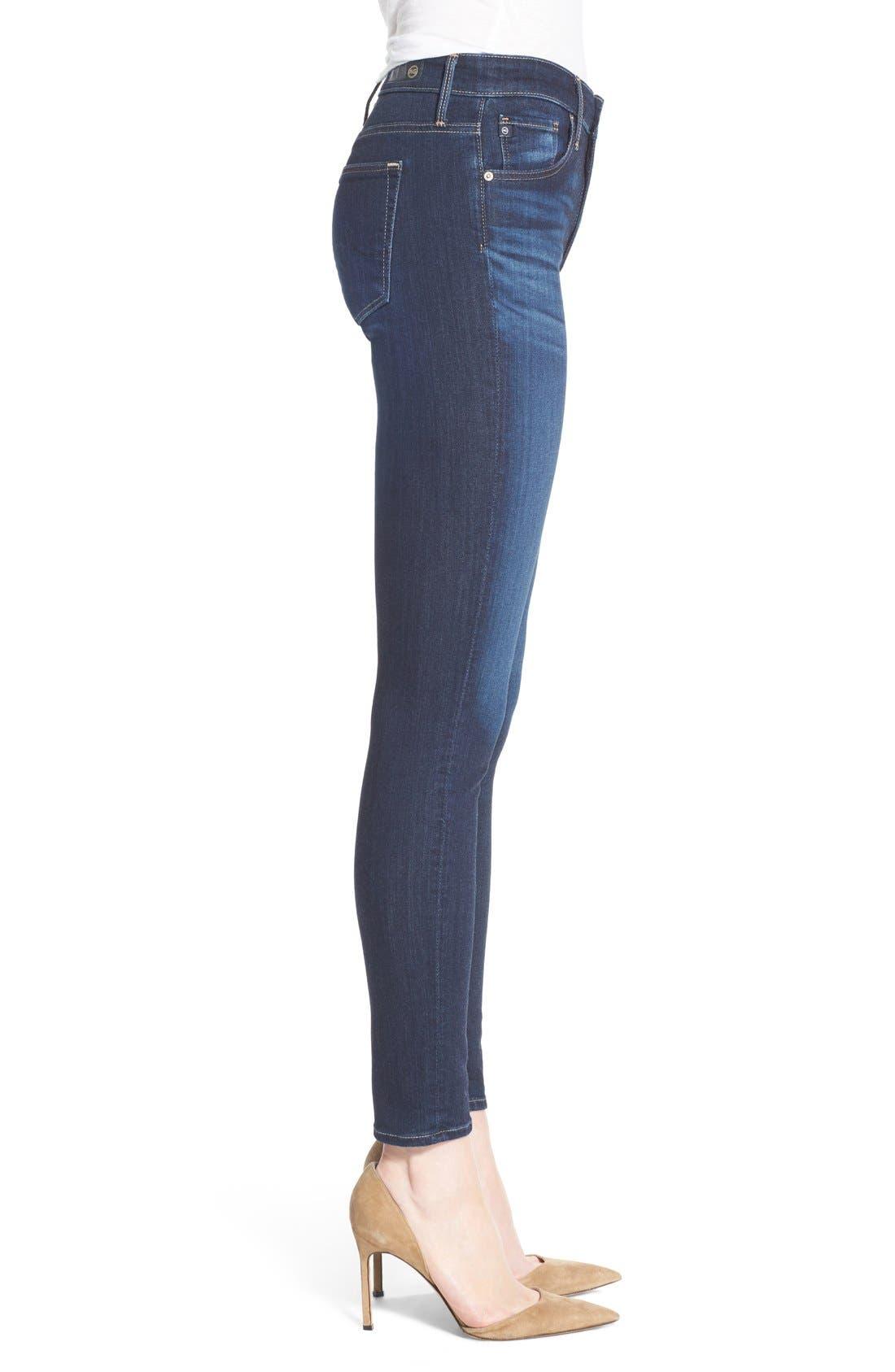 Alternate Image 3  - AG 'The Farrah' High Rise Crop Skinny Jeans