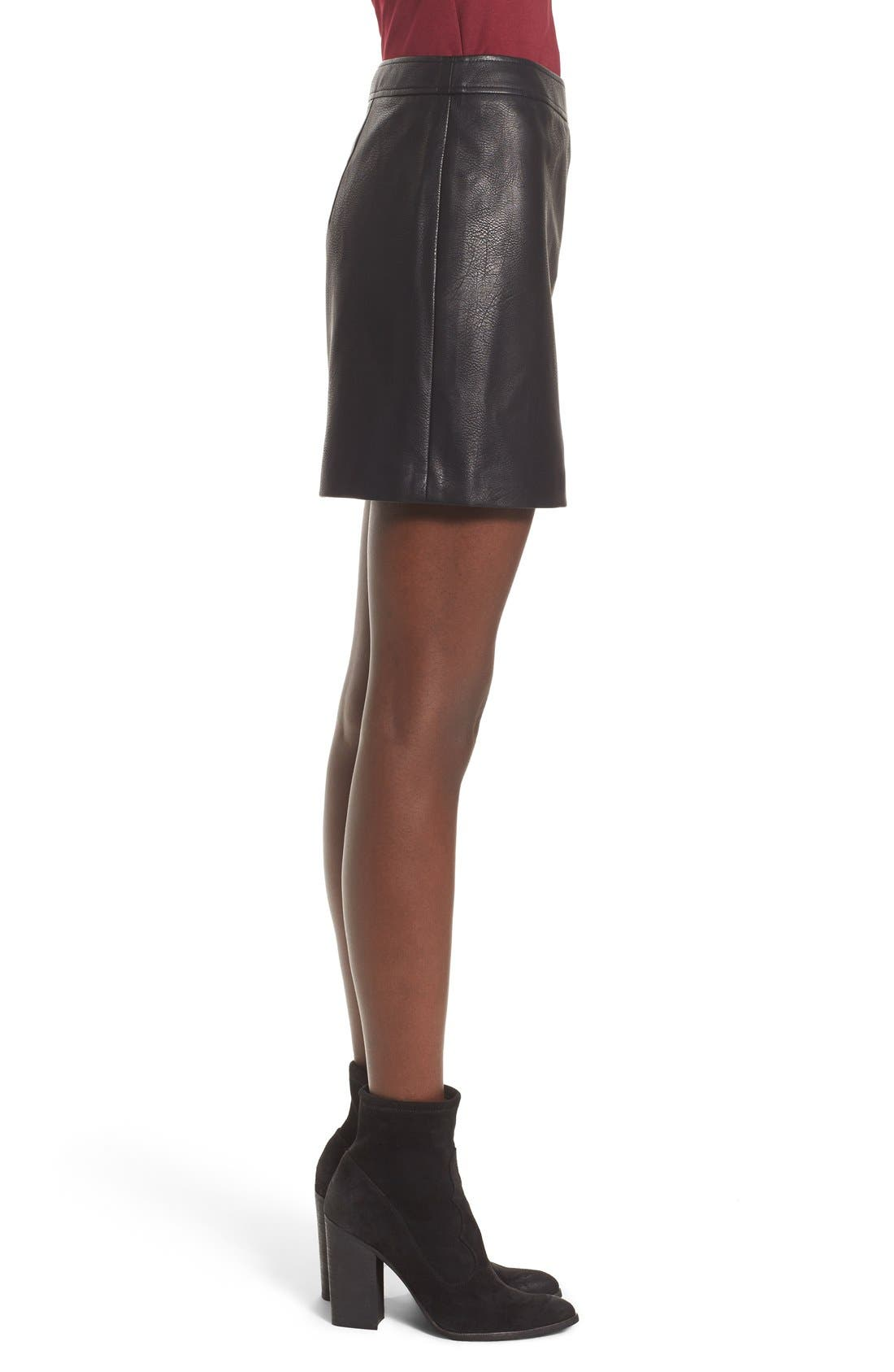 Alternate Image 3  - Leith Faux Leather Skirt