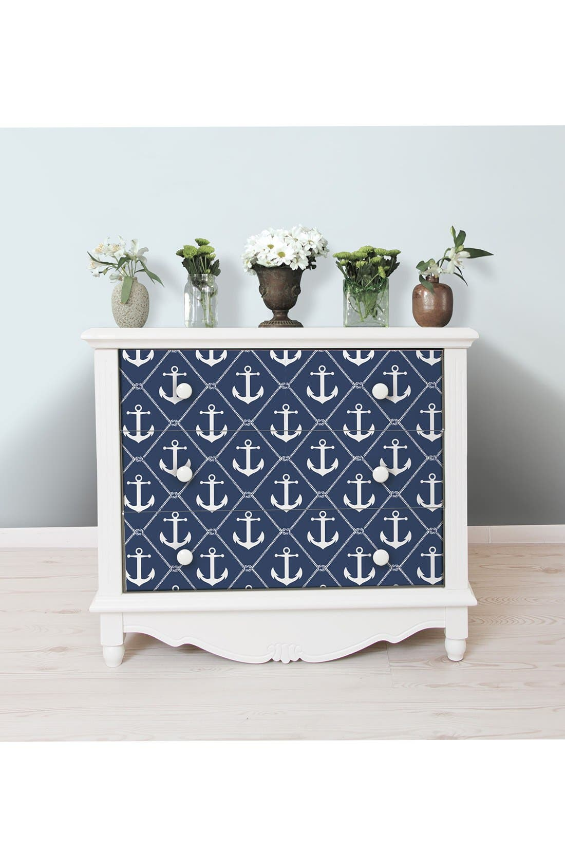 'Set Sail'  Peel & Stick Vinyl Wallpaper,                             Alternate thumbnail 2, color,                             Blue - Set Sail
