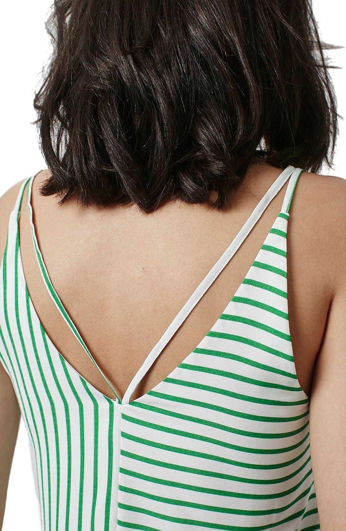 Alternate Image 5  - Topshop Stripe Panel V-Strap Camisole (Regular & Petite)