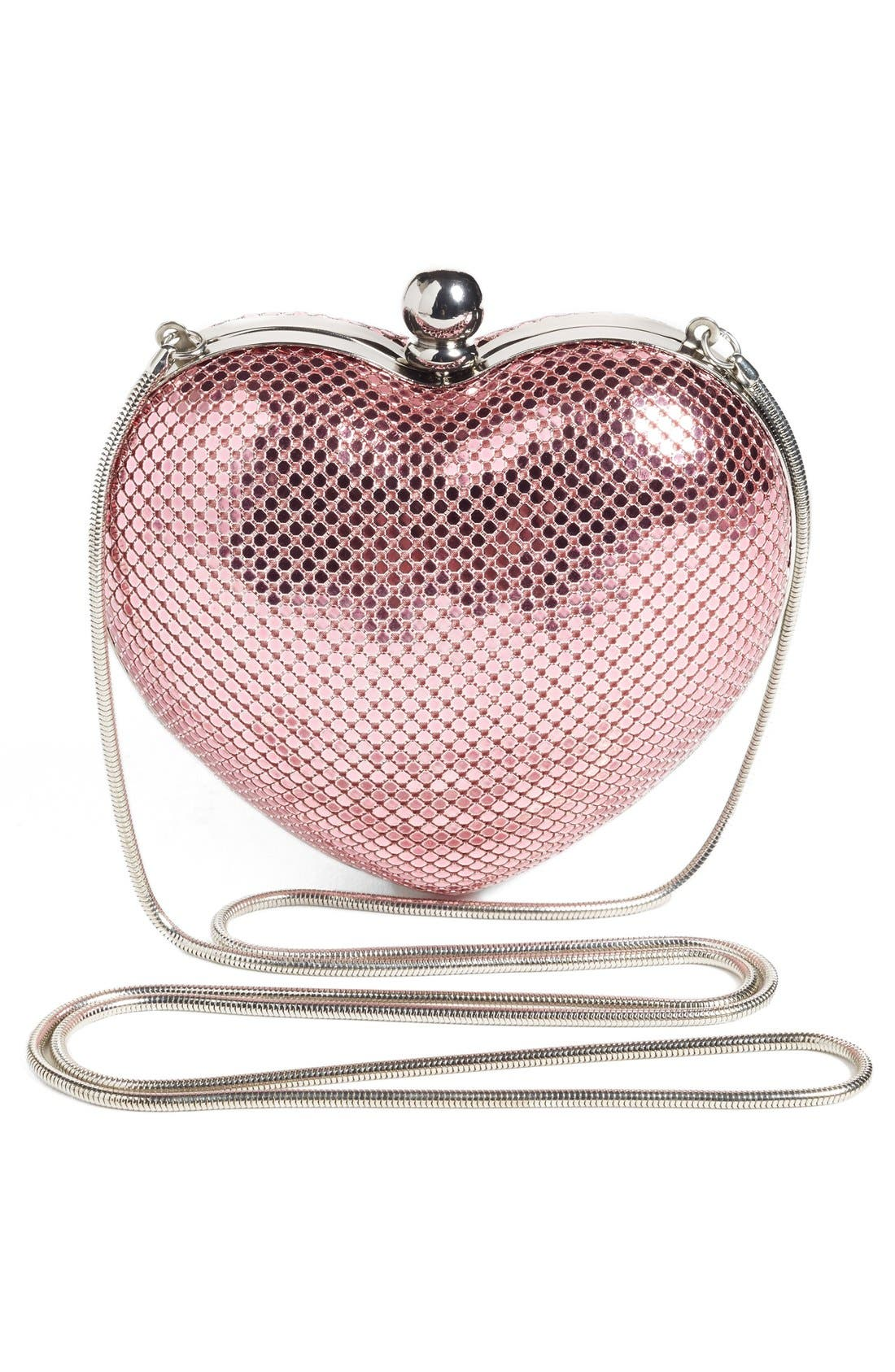 'Charity Heart' Minaudière,                             Alternate thumbnail 3, color,                             Pink