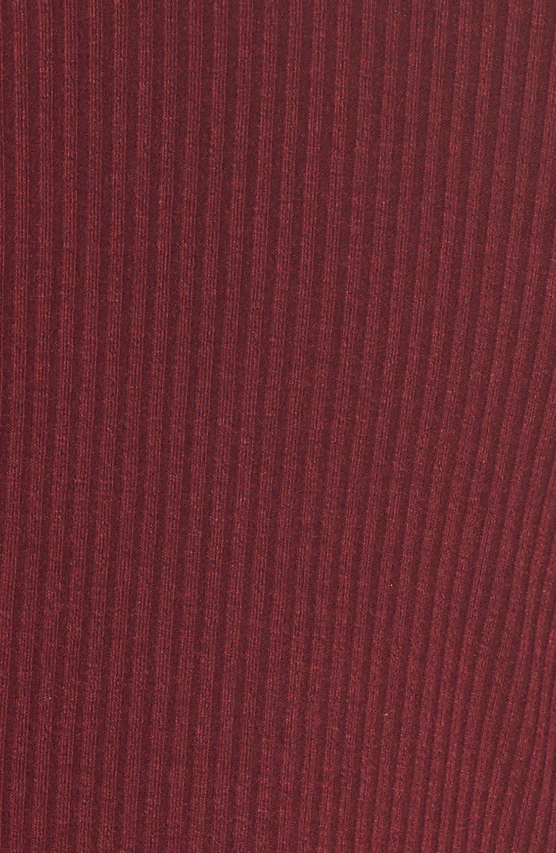 Alternate Image 5  - Love, Fire Long Sleeve Rib Knit Dress