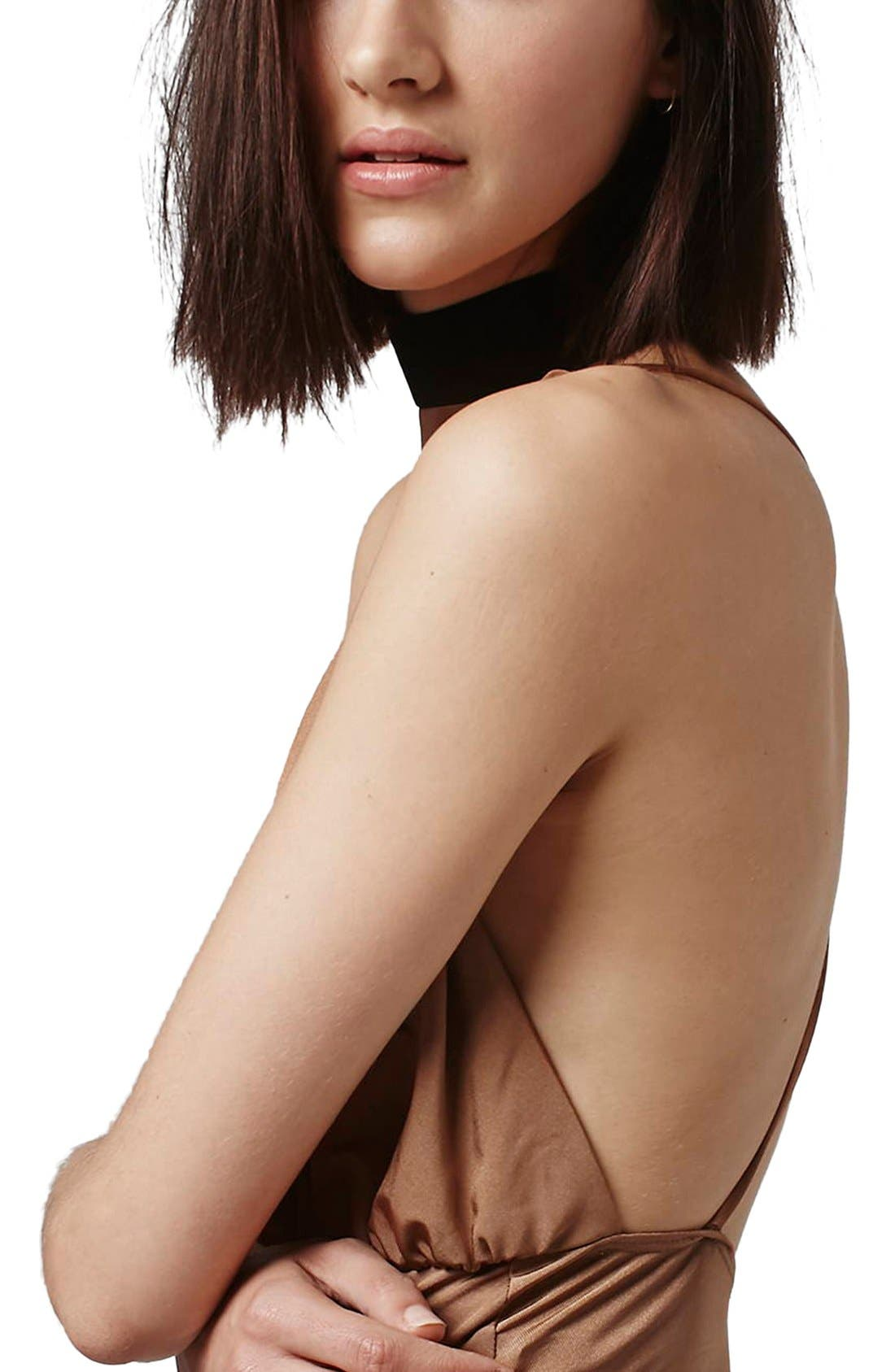 Alternate Image 5  - Topshop Plunge Cross Back Bodysuit