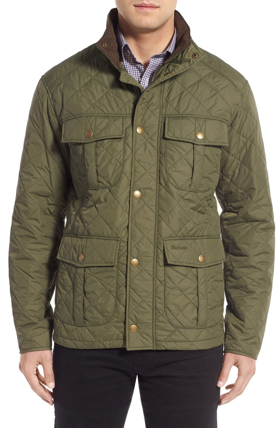 Alternate Image 1 Selected - Barbour 'Explorer' Water-Resistant Quilted Utility Jacket