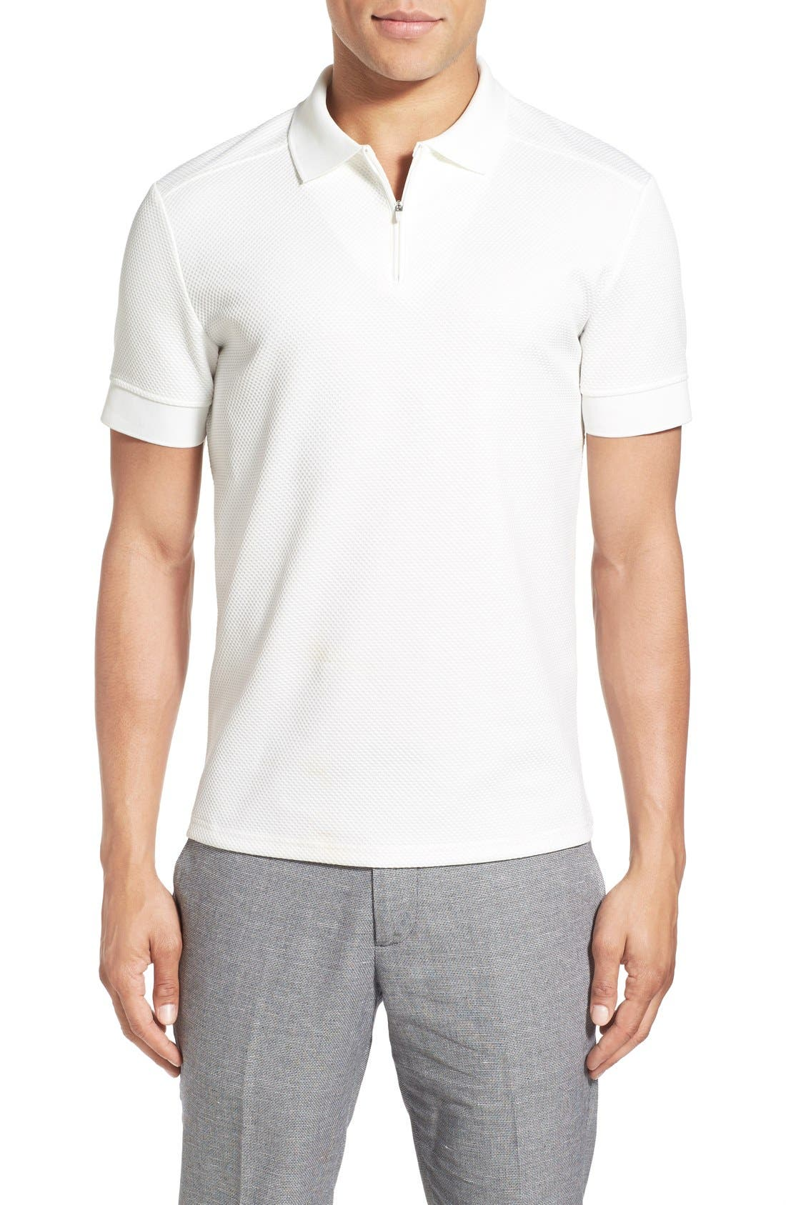Alternate Image 1 Selected - Vince Camuto Slim Fit Mesh Polo