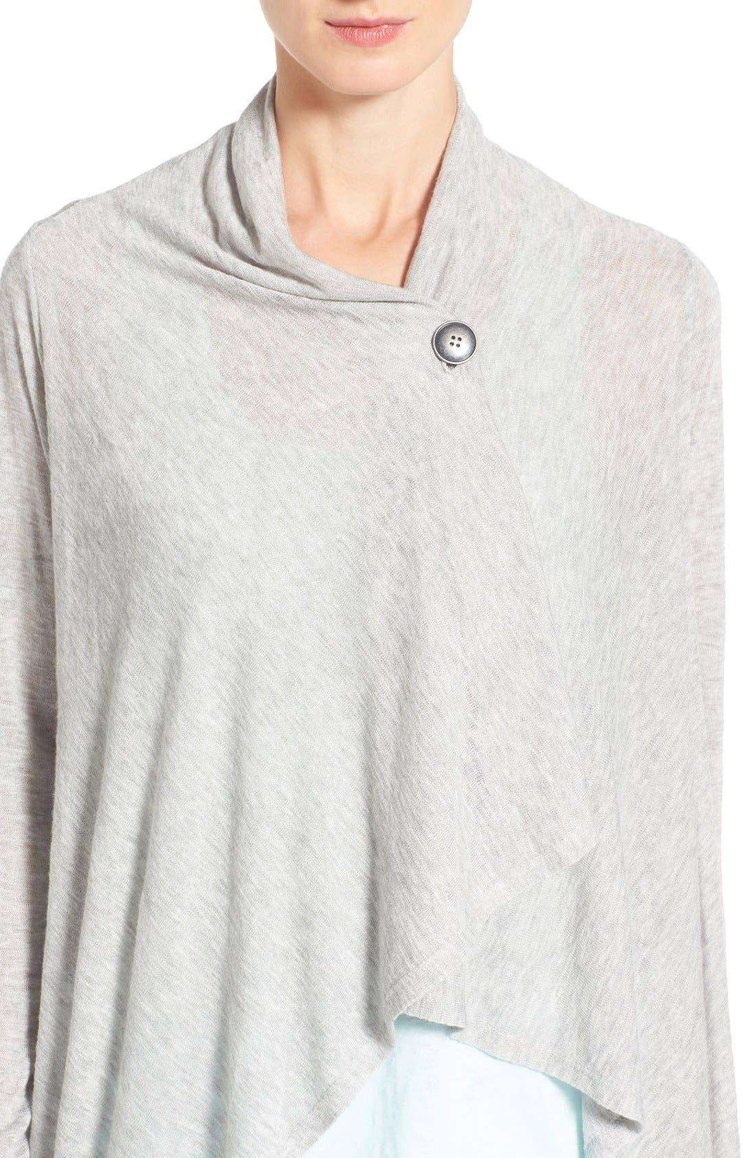 Alternate Image 4  - Bobeau Lightweight One-Button Asymmetrical Cardigan (Regular & Petite)