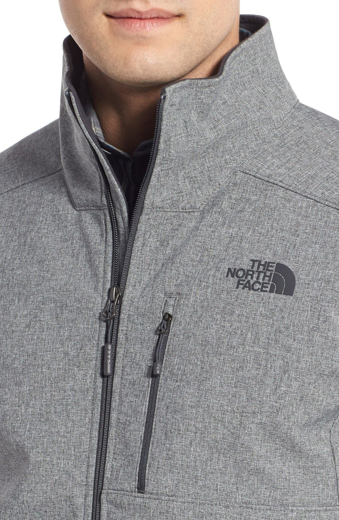 'Apex Bionic 2' Windproof & Water Resistant Soft Shell Jacket,                             Alternate thumbnail 4, color,                             Tnf Medium Grey Heather