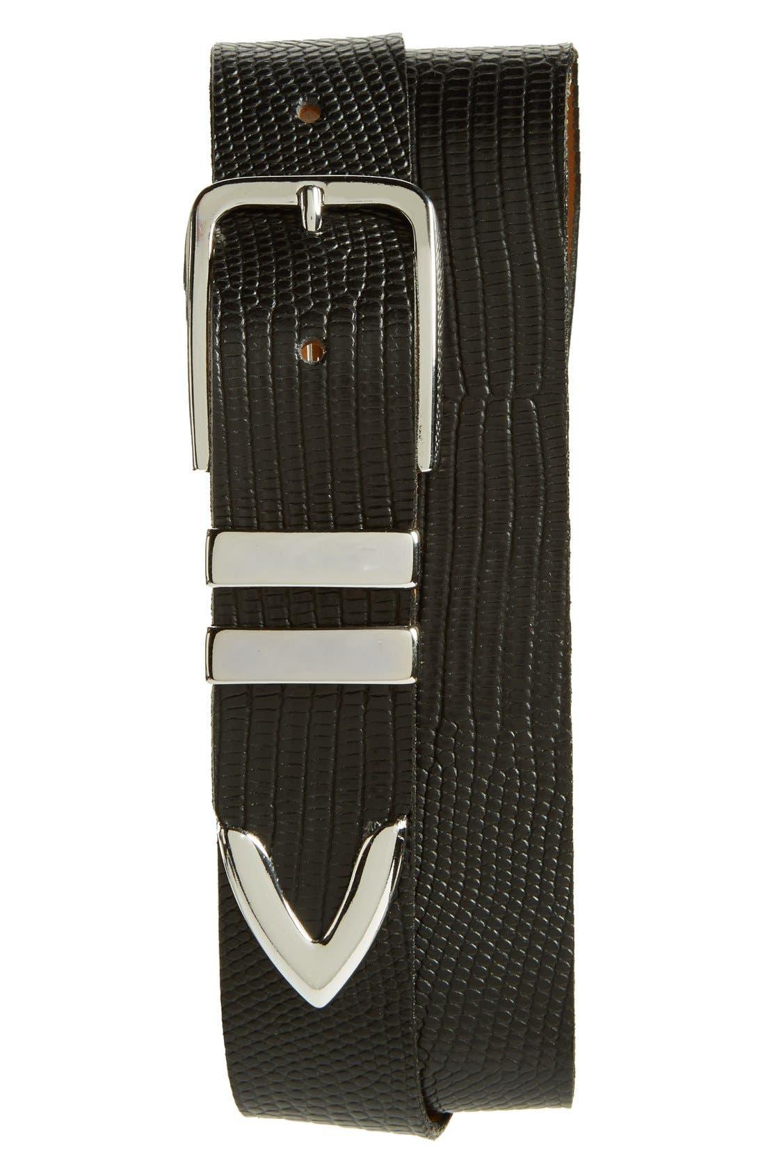 'Andre' Leather Belt,                         Main,                         color, Black