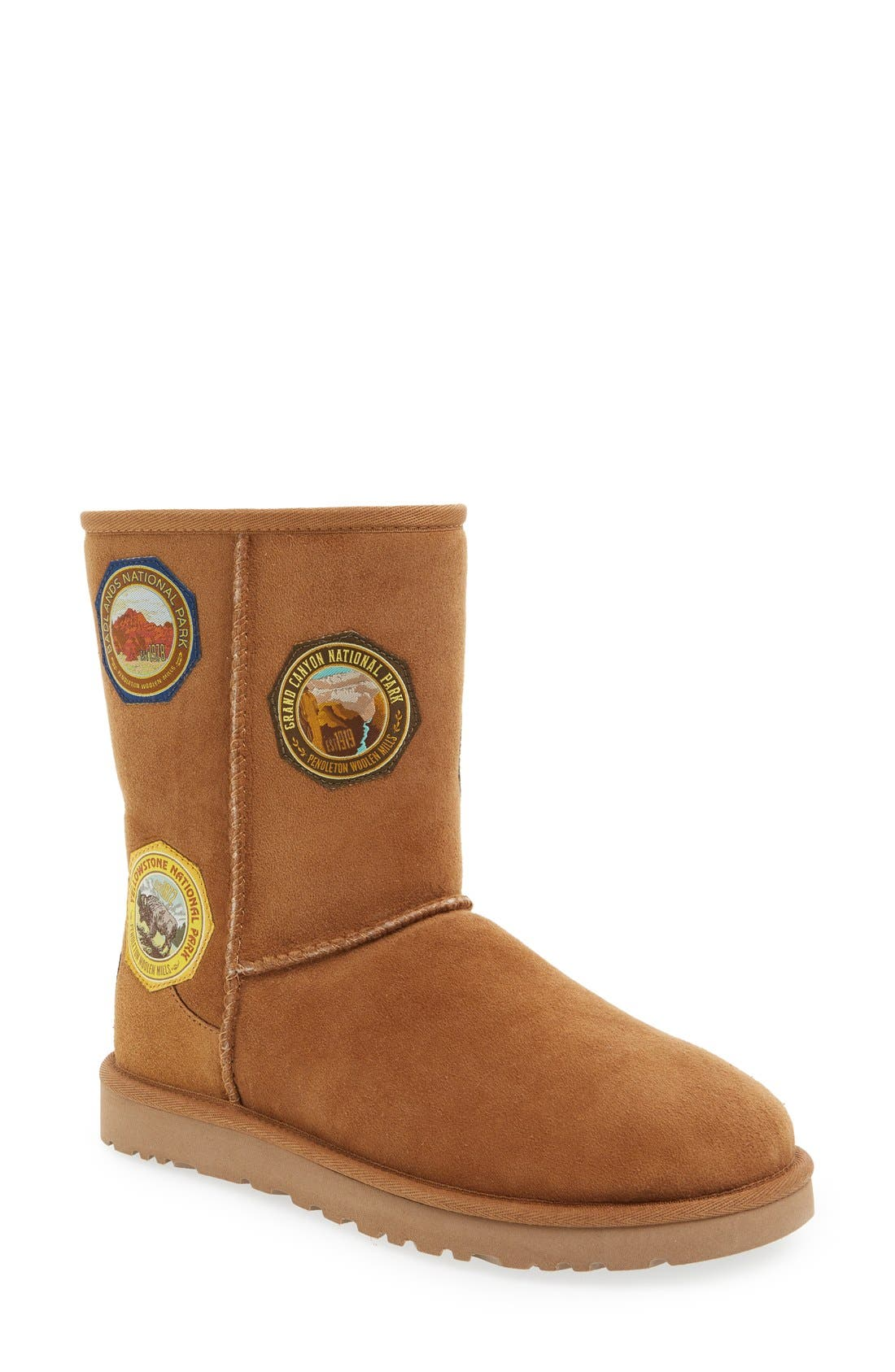 Main Image - UGG® x Pendleton 'Classic Short - Patch' Boot (Women)