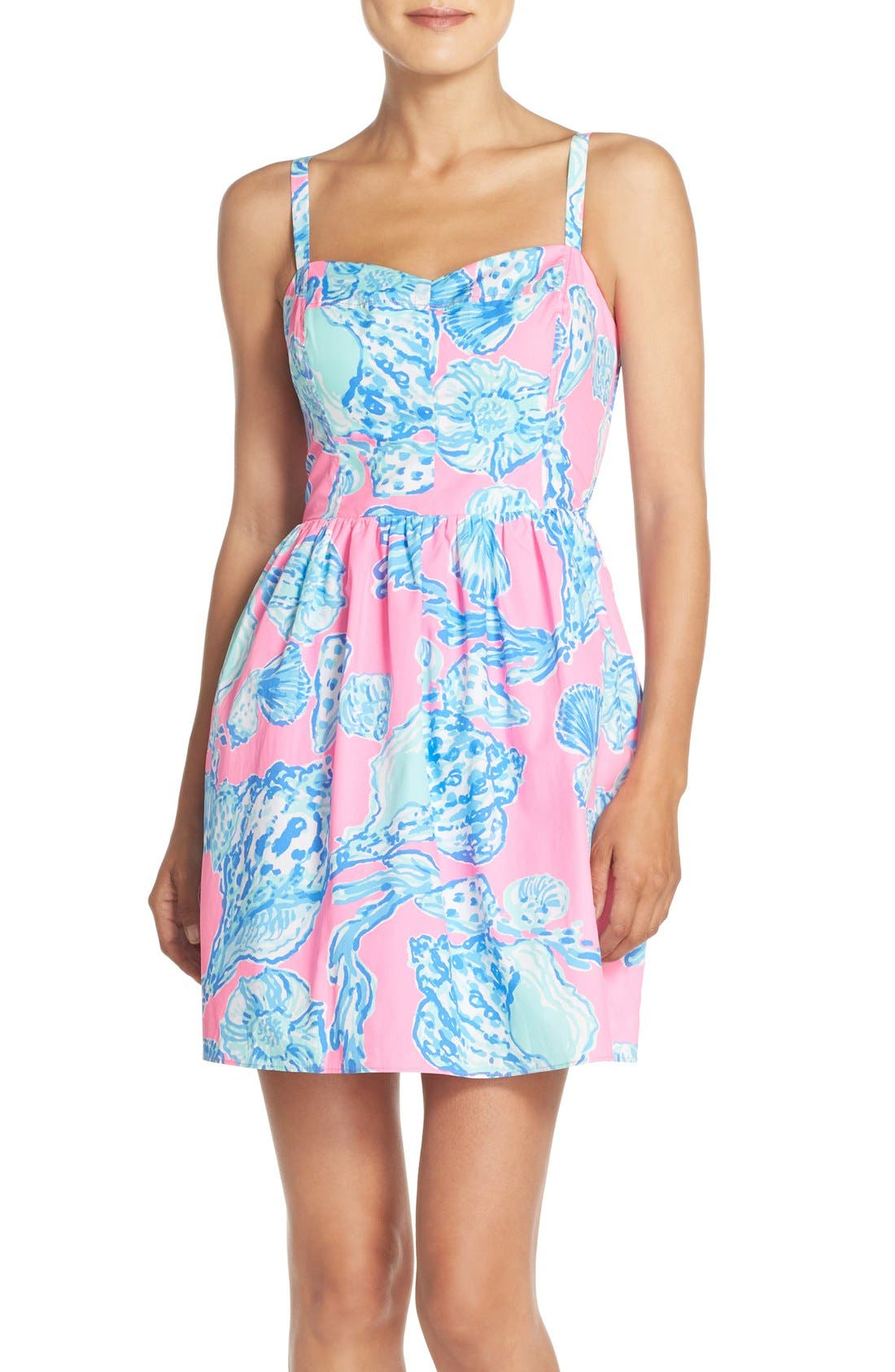 Alternate Image 1 Selected - Lilly Pulitzer® 'Ardleigh' Print Cotton Fit & Flare Dress