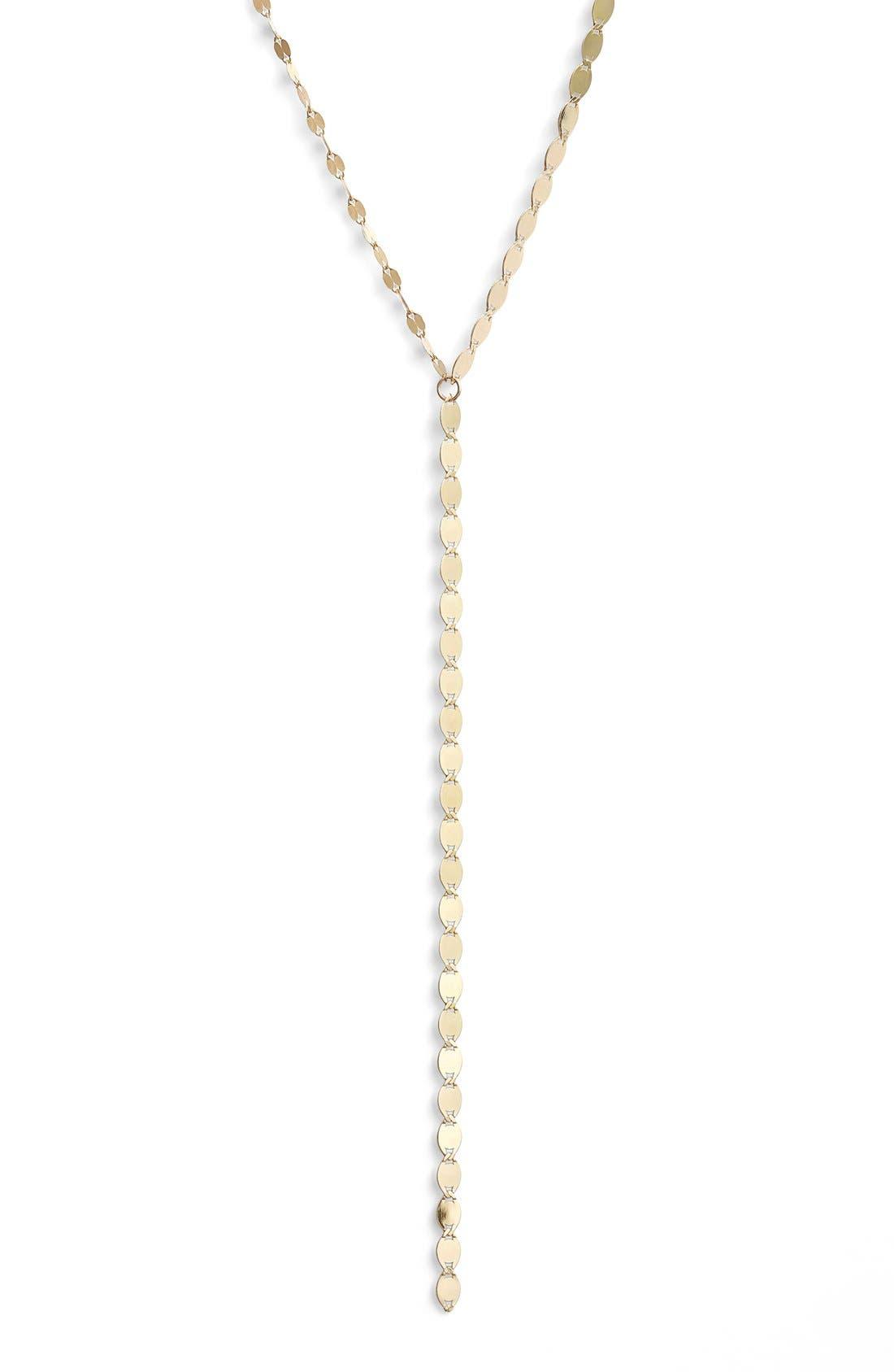'Nude' Y-Necklace,                         Main,                         color, Yellow Gold