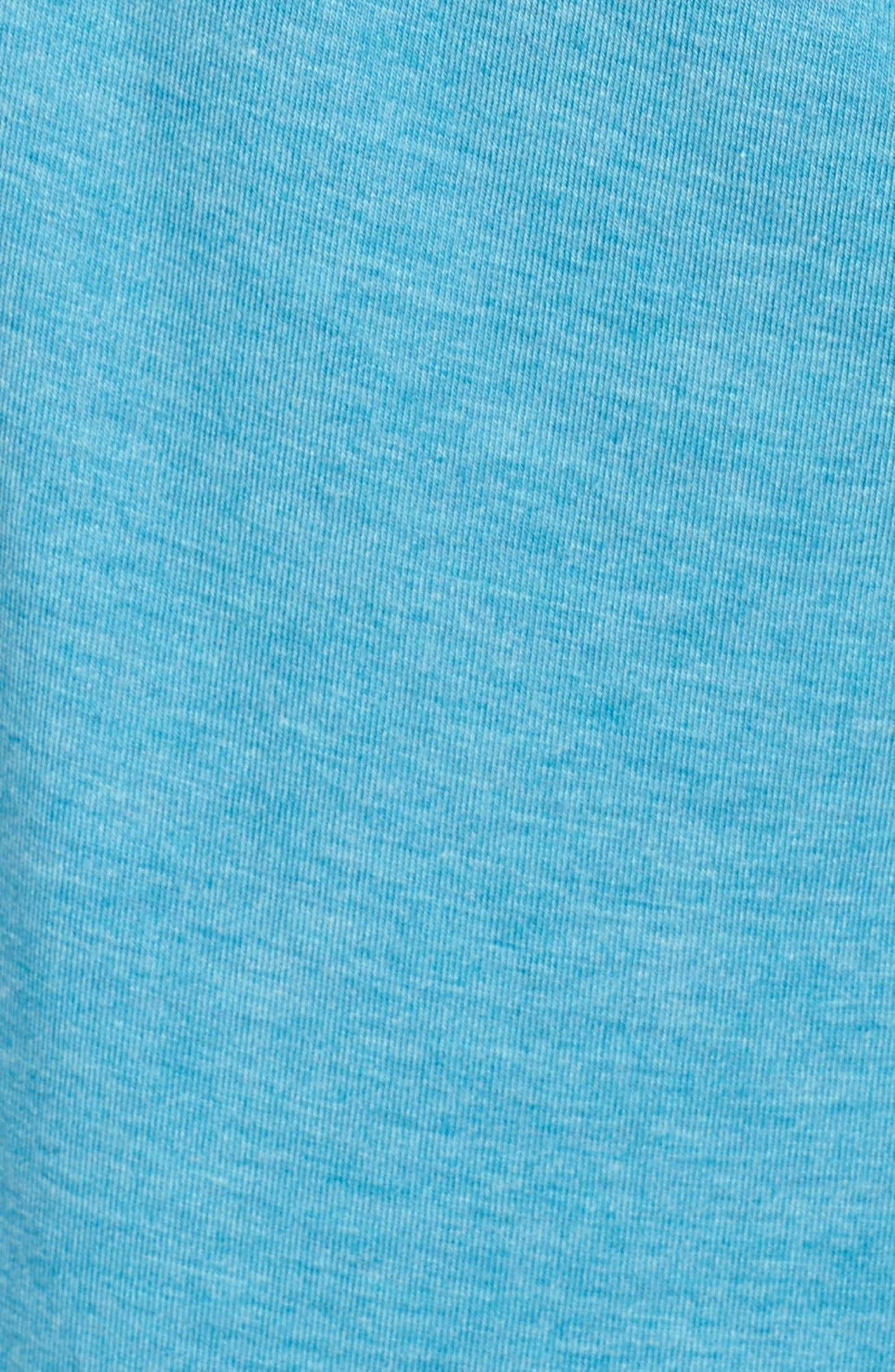 Swoop Cutout Tee,                             Alternate thumbnail 6, color,                             Blue Ultra Heather