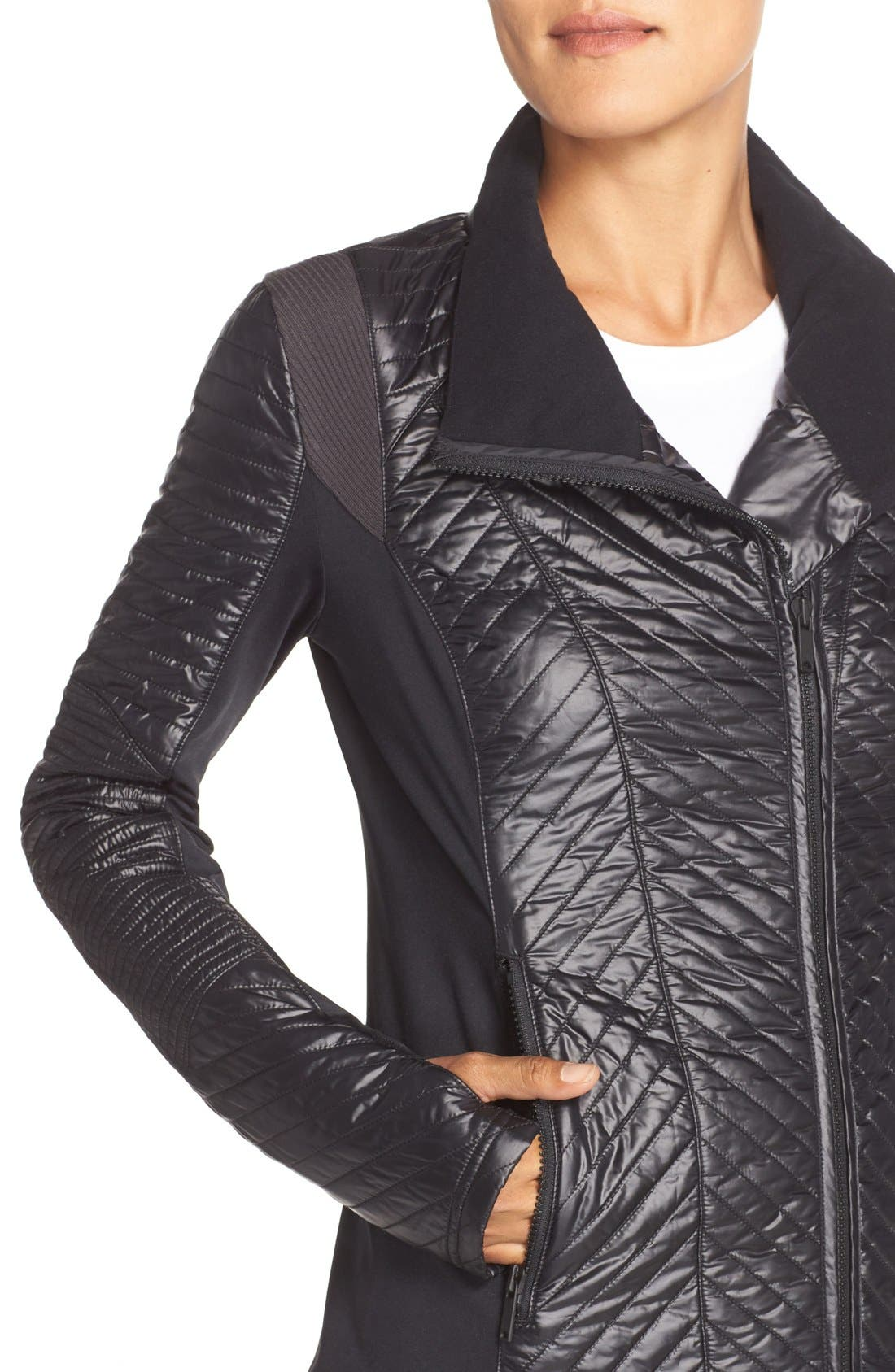 Alternate Image 4  - Zella Double Breasted Quilted Jacket