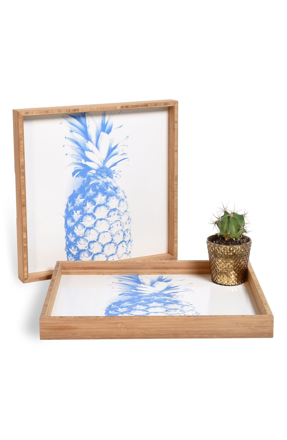 'Pineapple' Decorative Serving Tray,                         Main,                         color, Blue