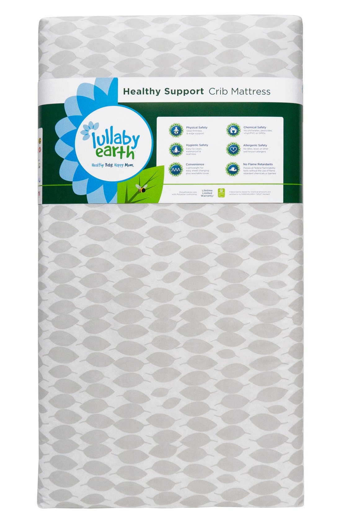 Crib Mattress,                             Main thumbnail 1, color,                             White/ Grey
