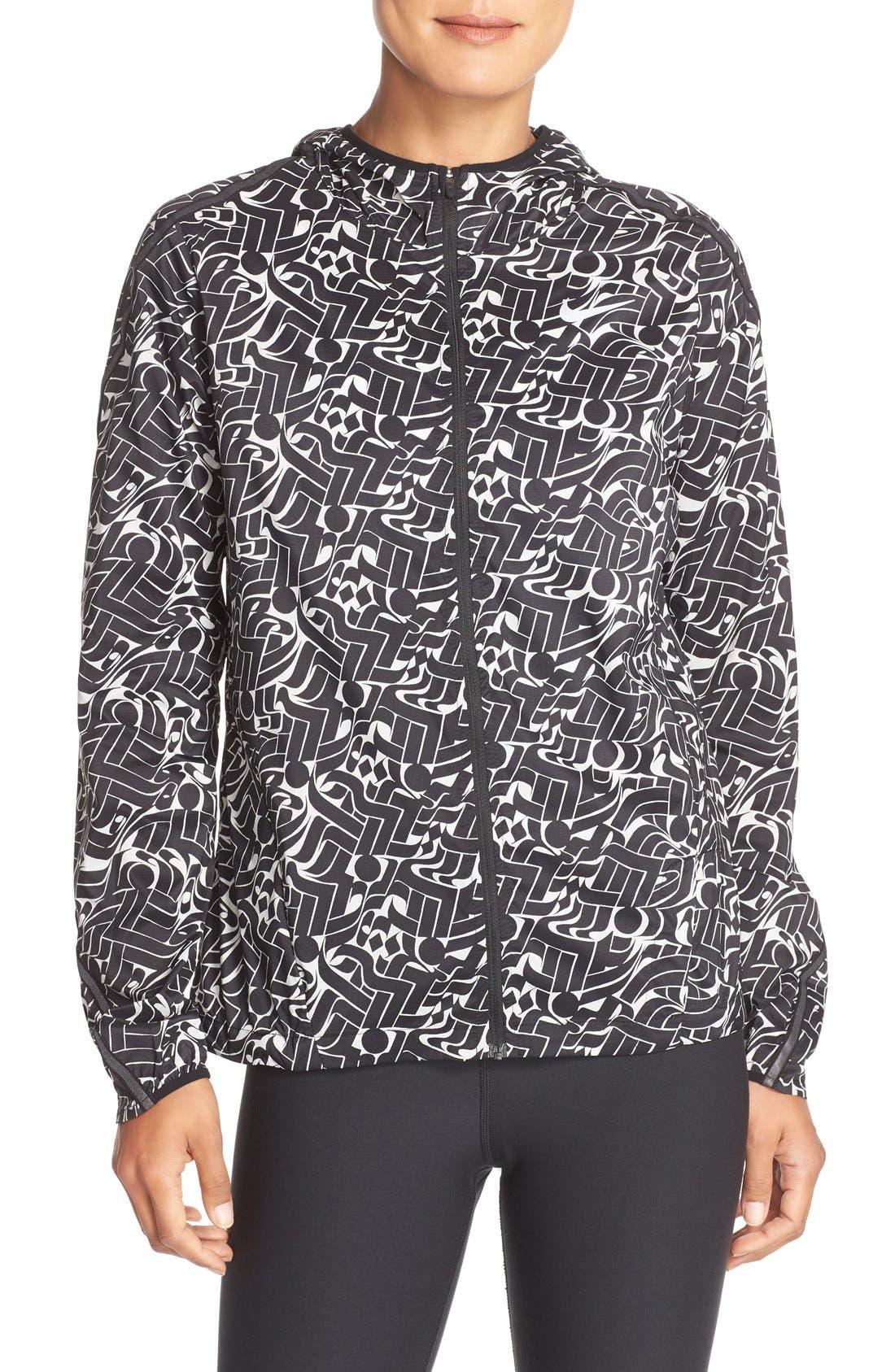 Alternate Image 1 Selected - Nike Shield Hooded Windbreaker Jacket