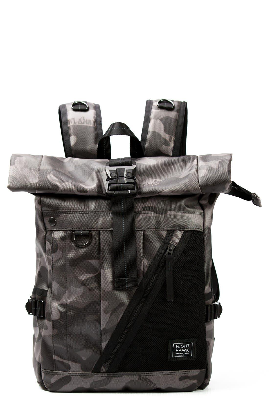 Harvest Label NightHawk Roll Top Backpack