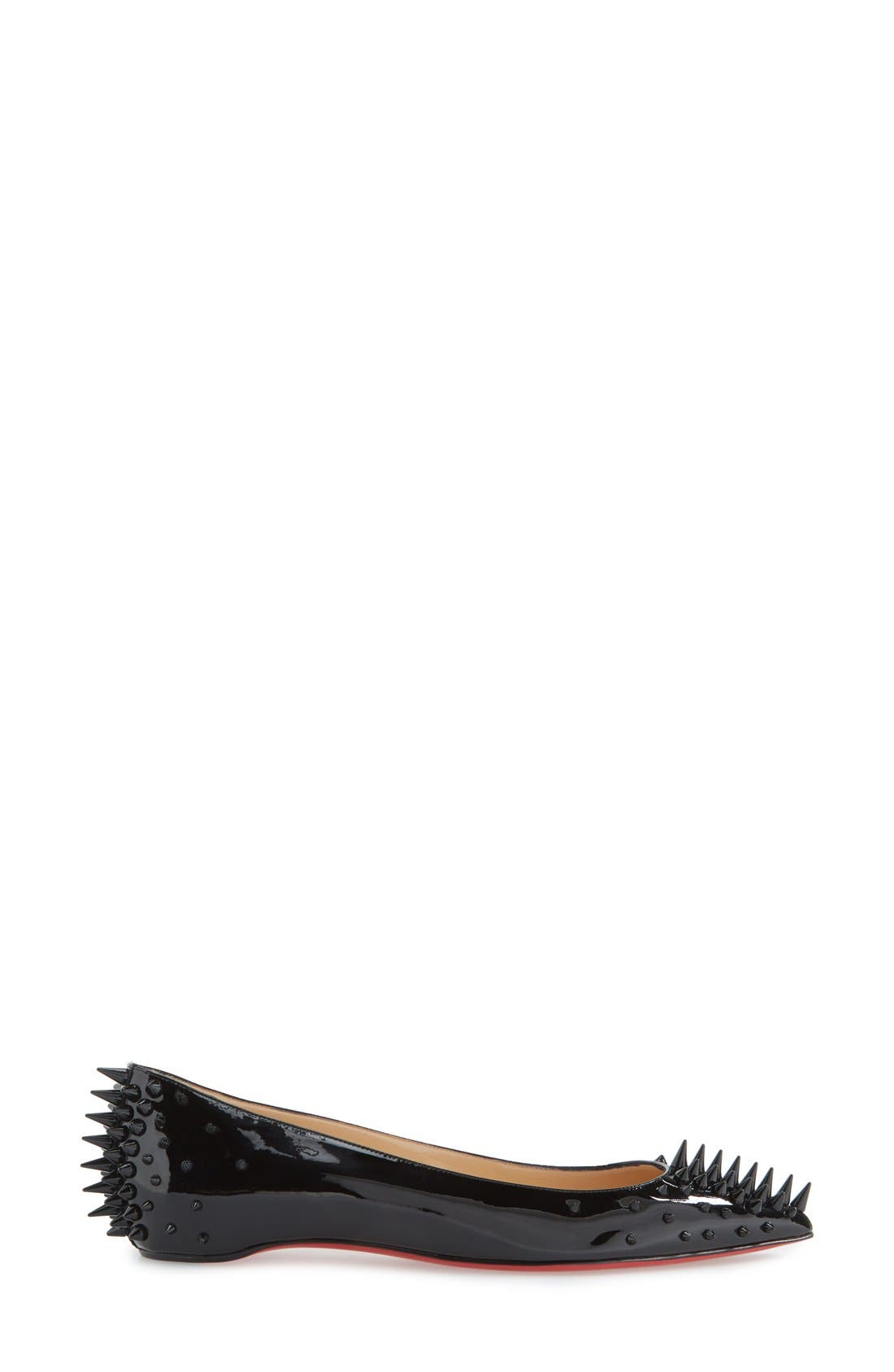 Alternate Image 4  - Christian Louboutin 'Goldoflat' Spike Ballerina Flat