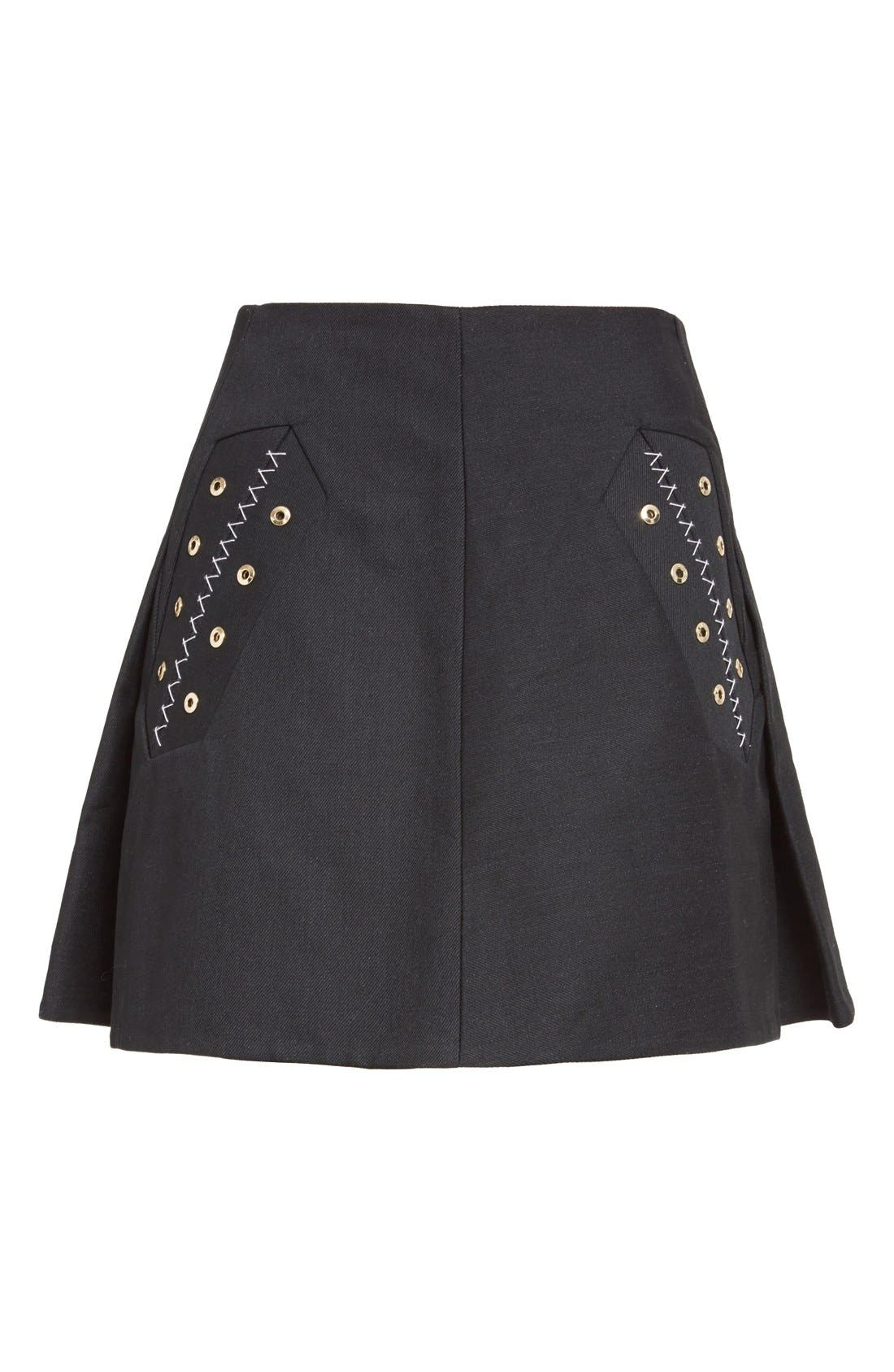 Alternate Image 4  - ELLERY 'Helena' Eyelet Detail Miniskirt