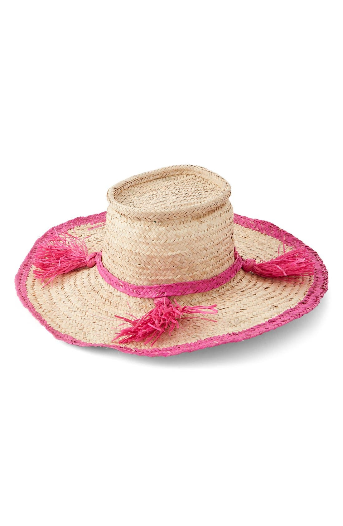 Alternate Image 3  - indego africa Woven Tassel Hat