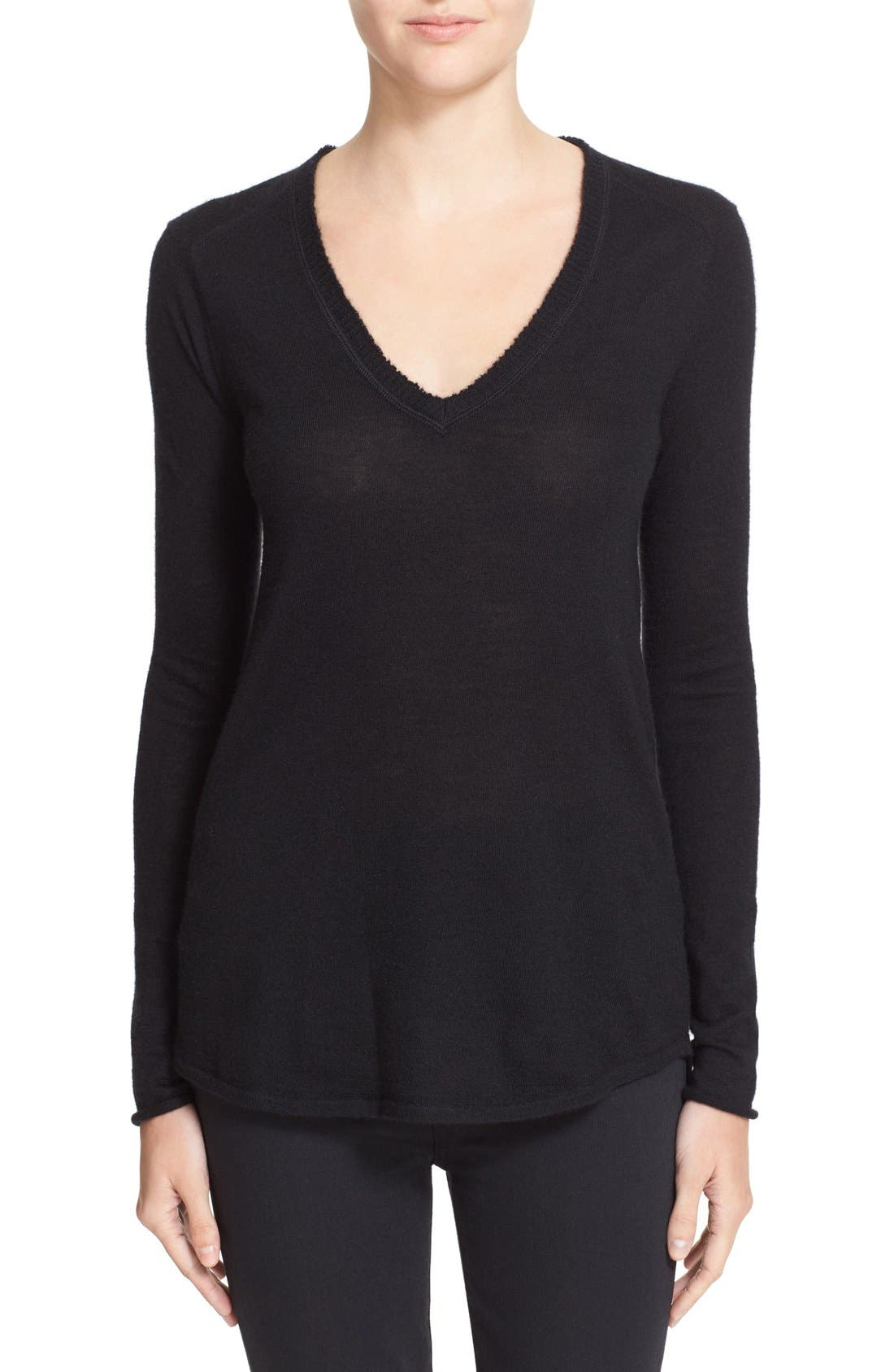 ATM Anthony Thomas Melillo Raw Edge Cashmere Sweater (Nordstrom Exclusive)