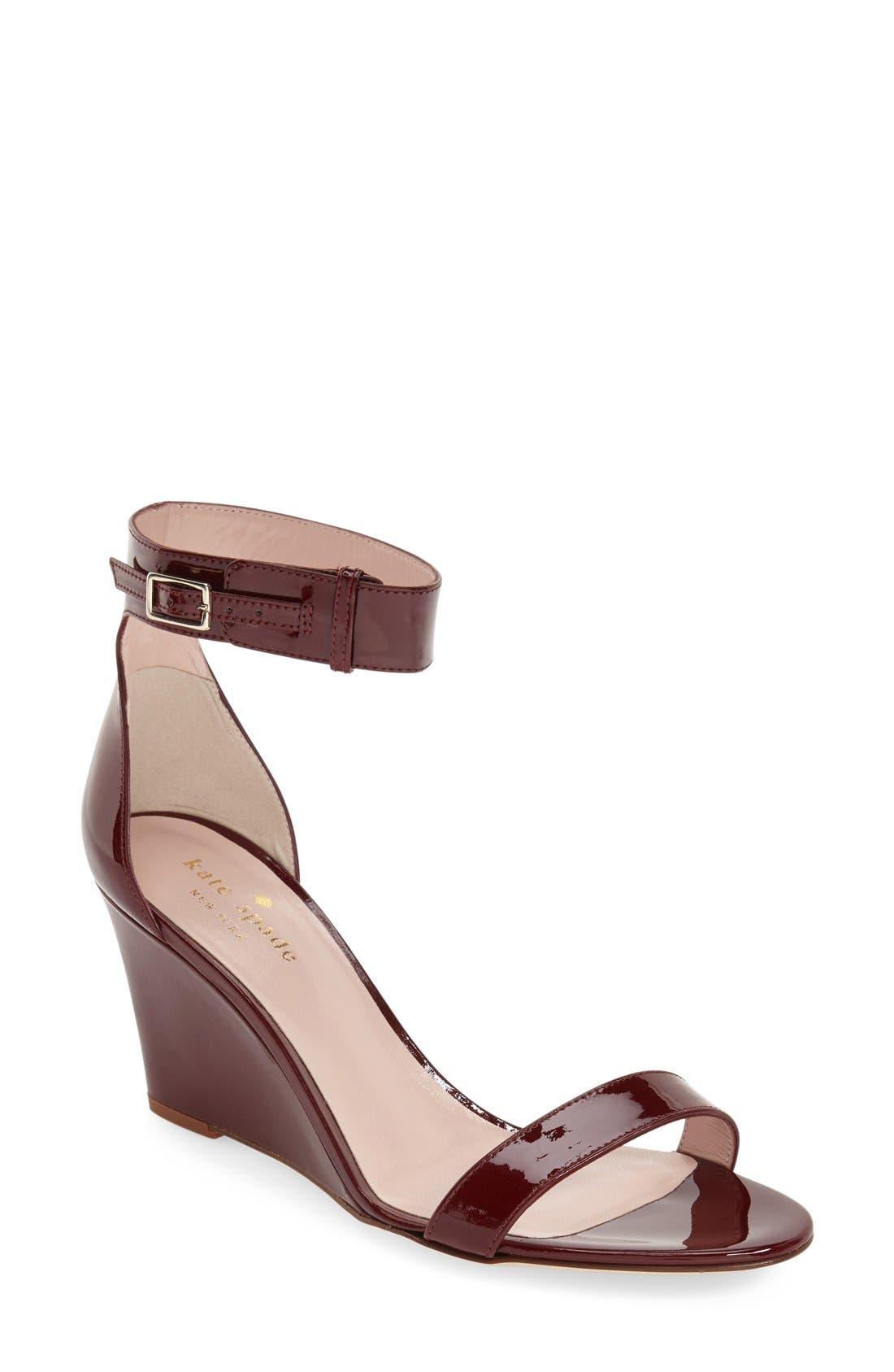 Alternate Image 1 Selected - kate spade new york 'ronia' wedge sandal (Women)