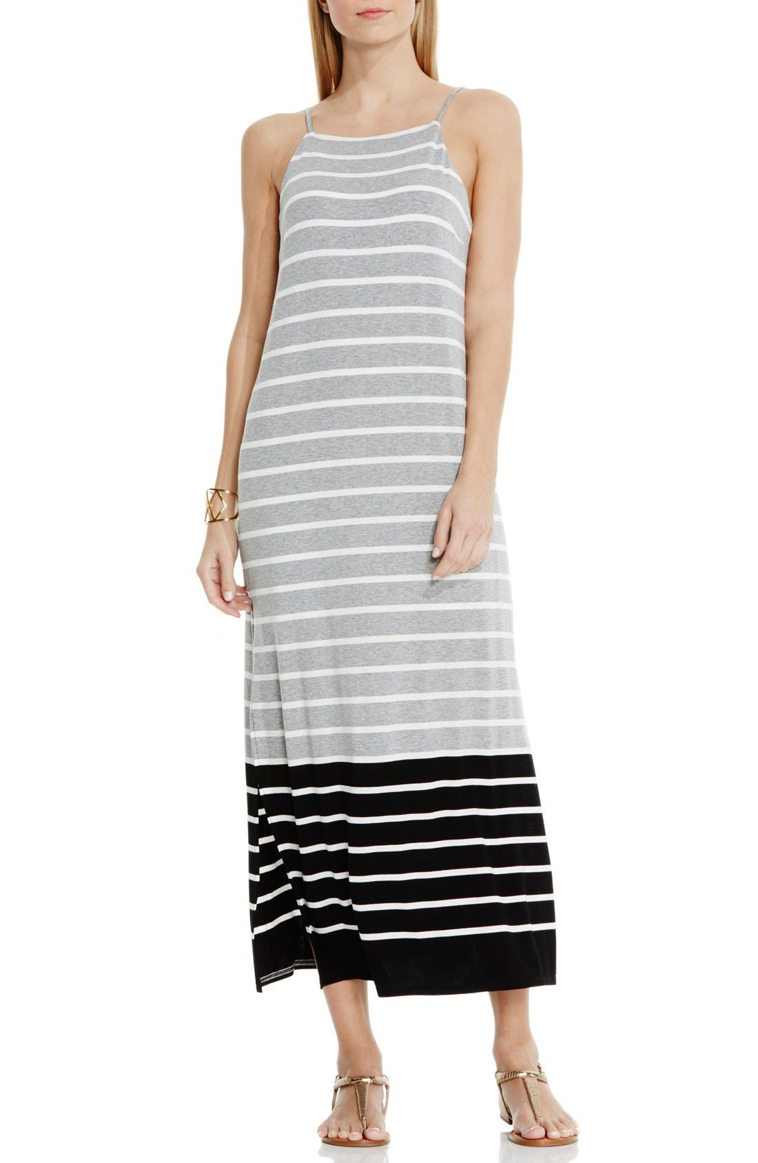 Alternate Image 1 Selected - Vince Camuto Magnet Stripe Maxi Dress (Regular & Petite)