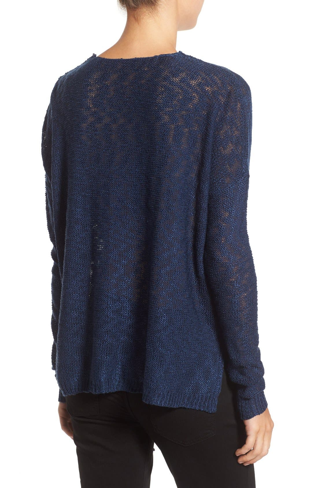 Alternate Image 2  - Love by Design Lace-Up Pullover