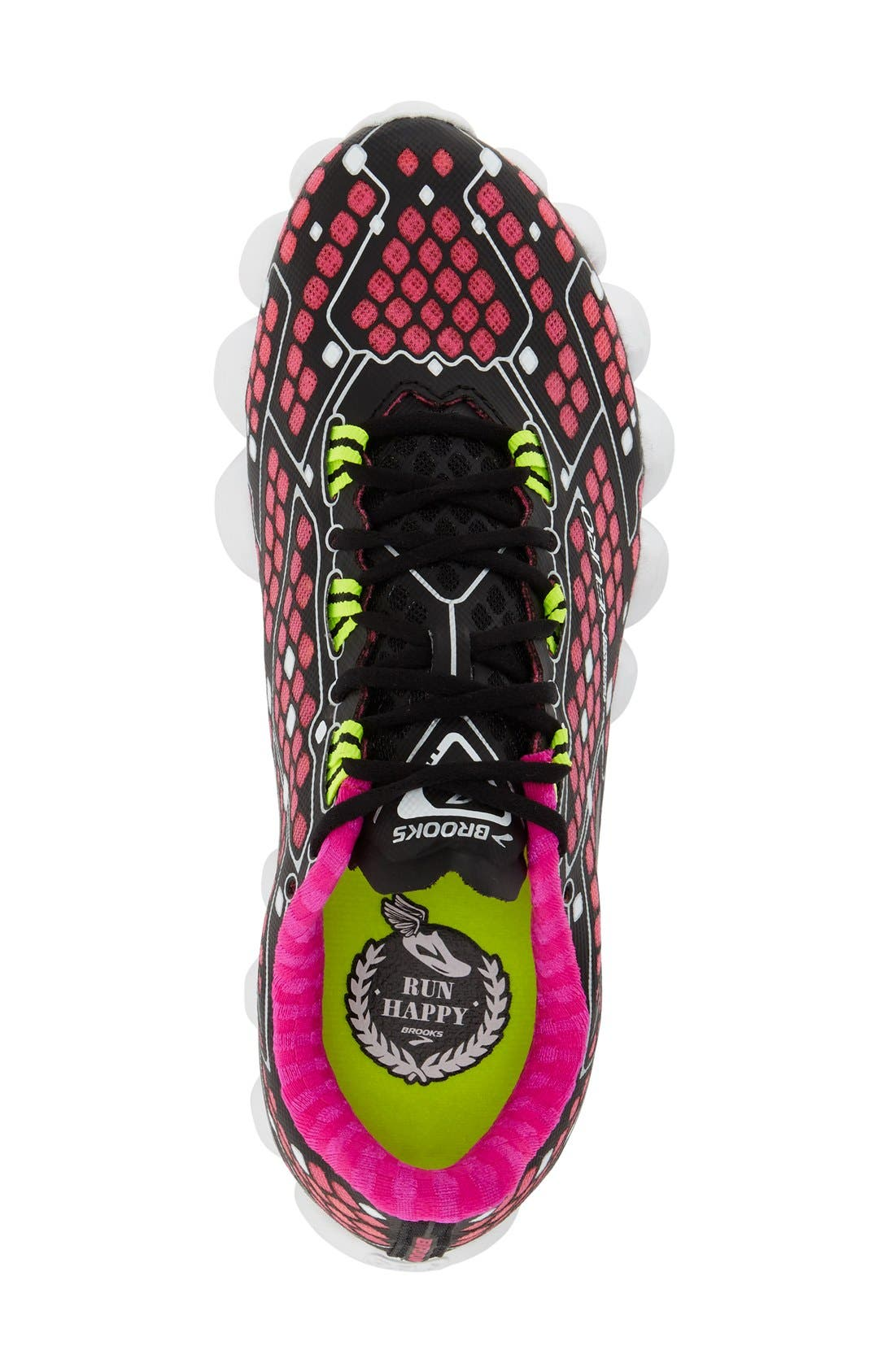 'Neuro' Running Shoe,                             Alternate thumbnail 3, color,                             Pink/ Black