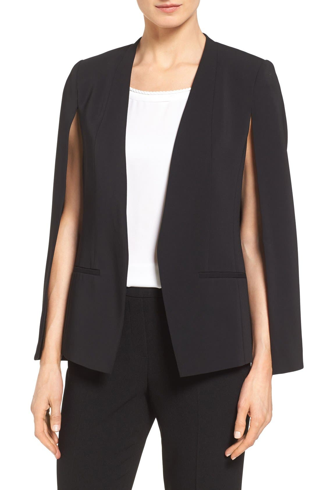 Alternate Image 1 Selected - Kobi Halperin 'Perri' Open Front Blazer with Cape Sleeves