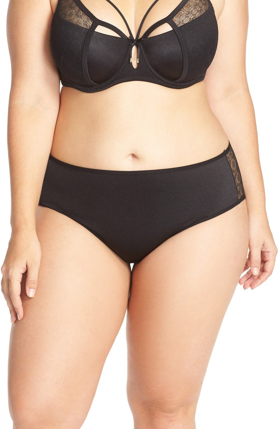 Ashley Graham 'Diva' Lace Back Briefs (Plus Size)