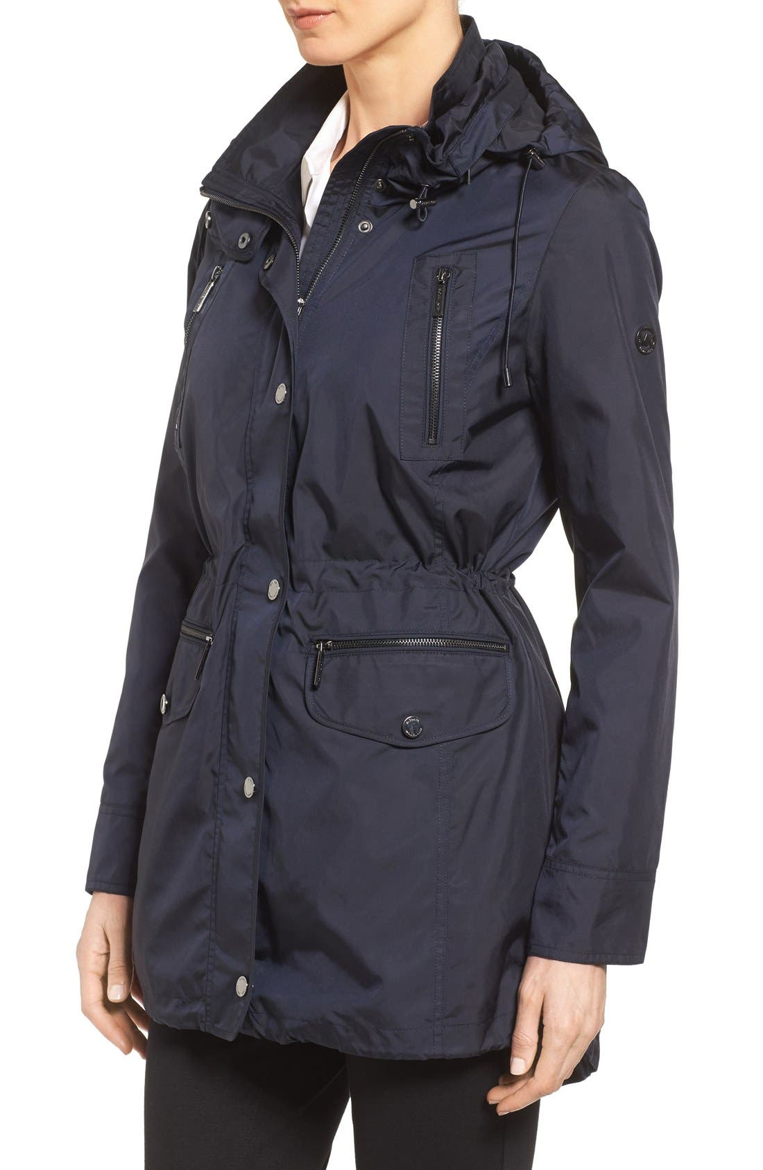 Alternate Image 3  - MICHAEL Michael Kors Hooded Anorak (Regular & Petite)