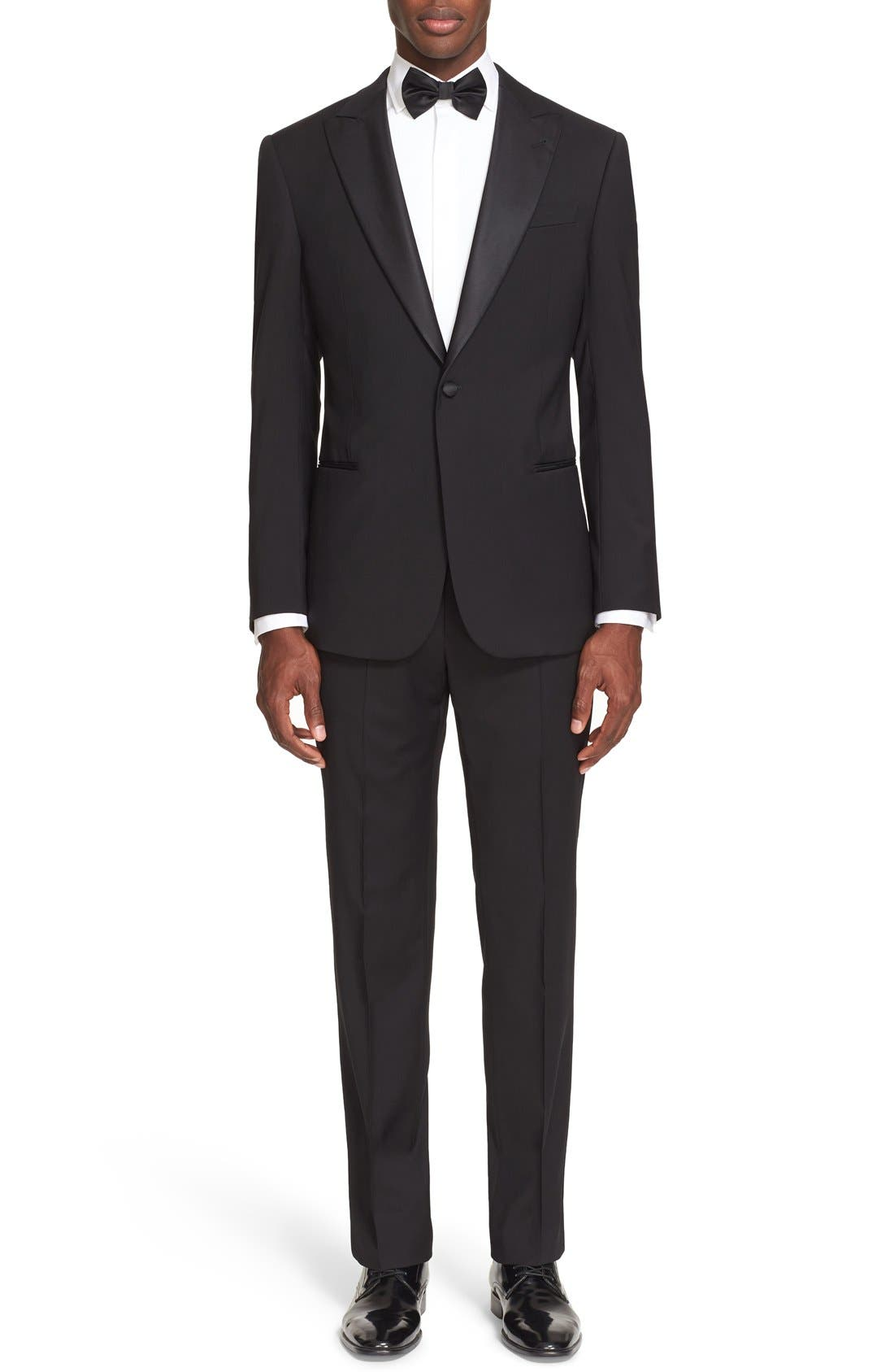 Armani Collezioni Trim Fit Virgin Wool Tuxedo