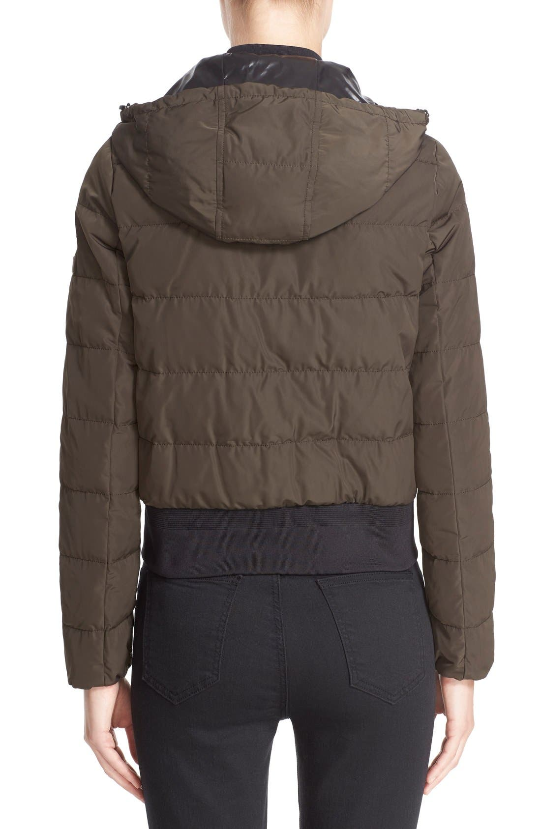 'Agathe' Water Resistant Hooded Down Jacket,                             Alternate thumbnail 2, color,                             Olive