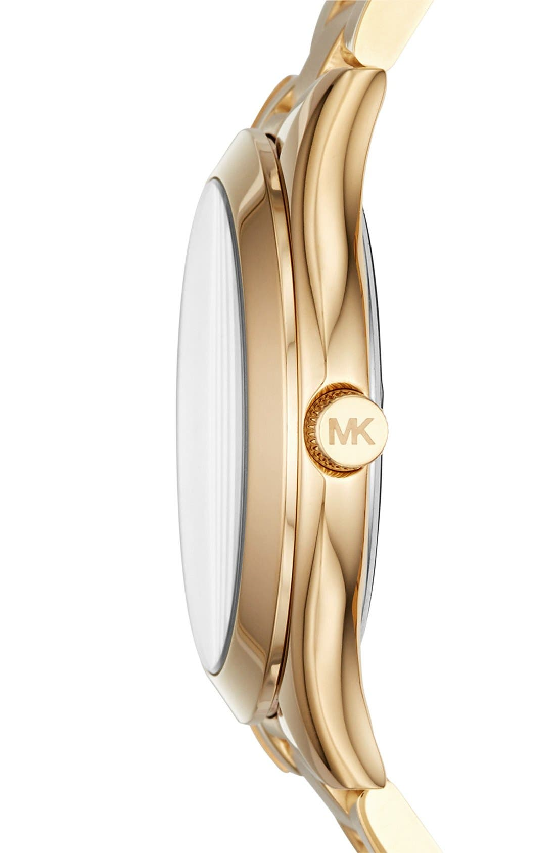 'Slim Runway' Bracelet Watch, 33mm,                             Alternate thumbnail 2, color,                             Gold/ Champagne