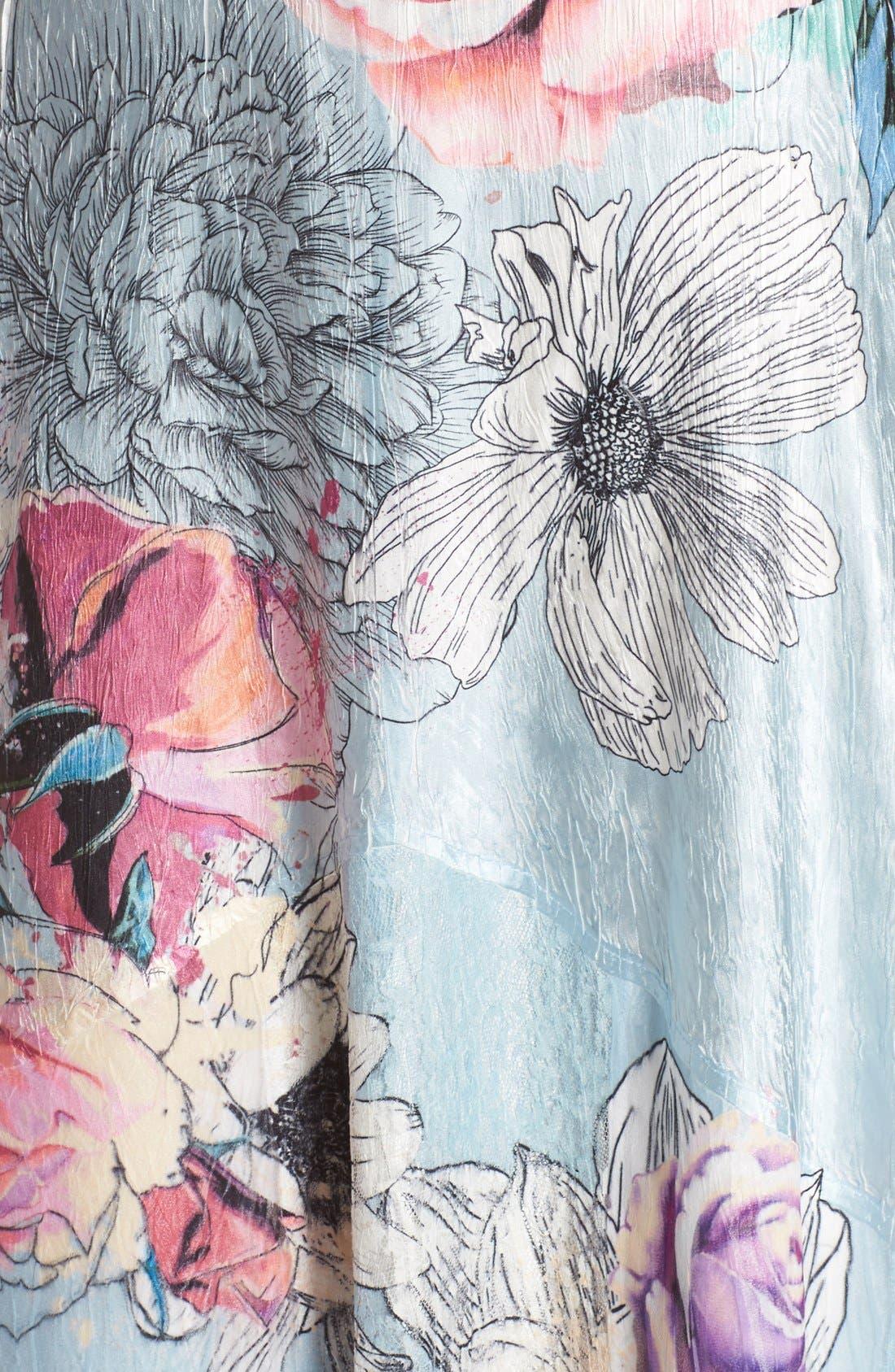 Alternate Image 5  - Komarov Mixed Media Midi Dress (Regular & Petite)